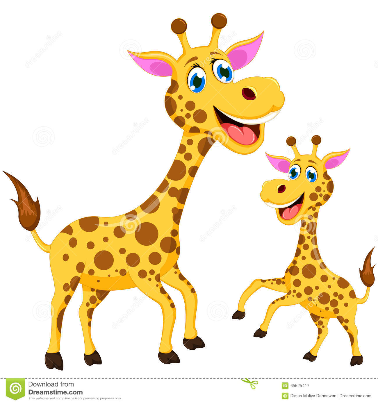 Happy cartoon giraffe stock illustration. Illustration of ...