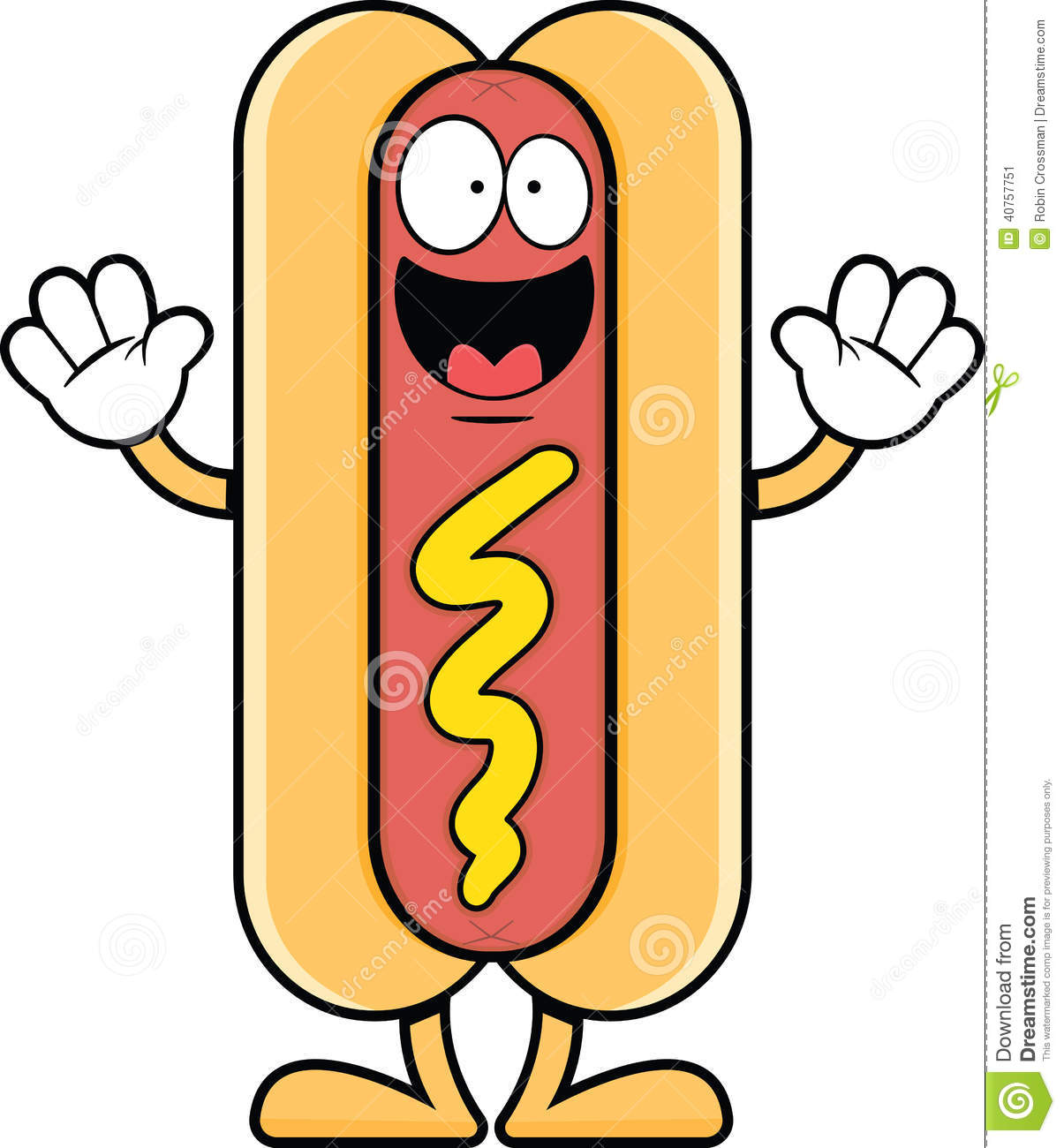 Happy Cartoon Hot Dog Stock Vector - Image: 40757751