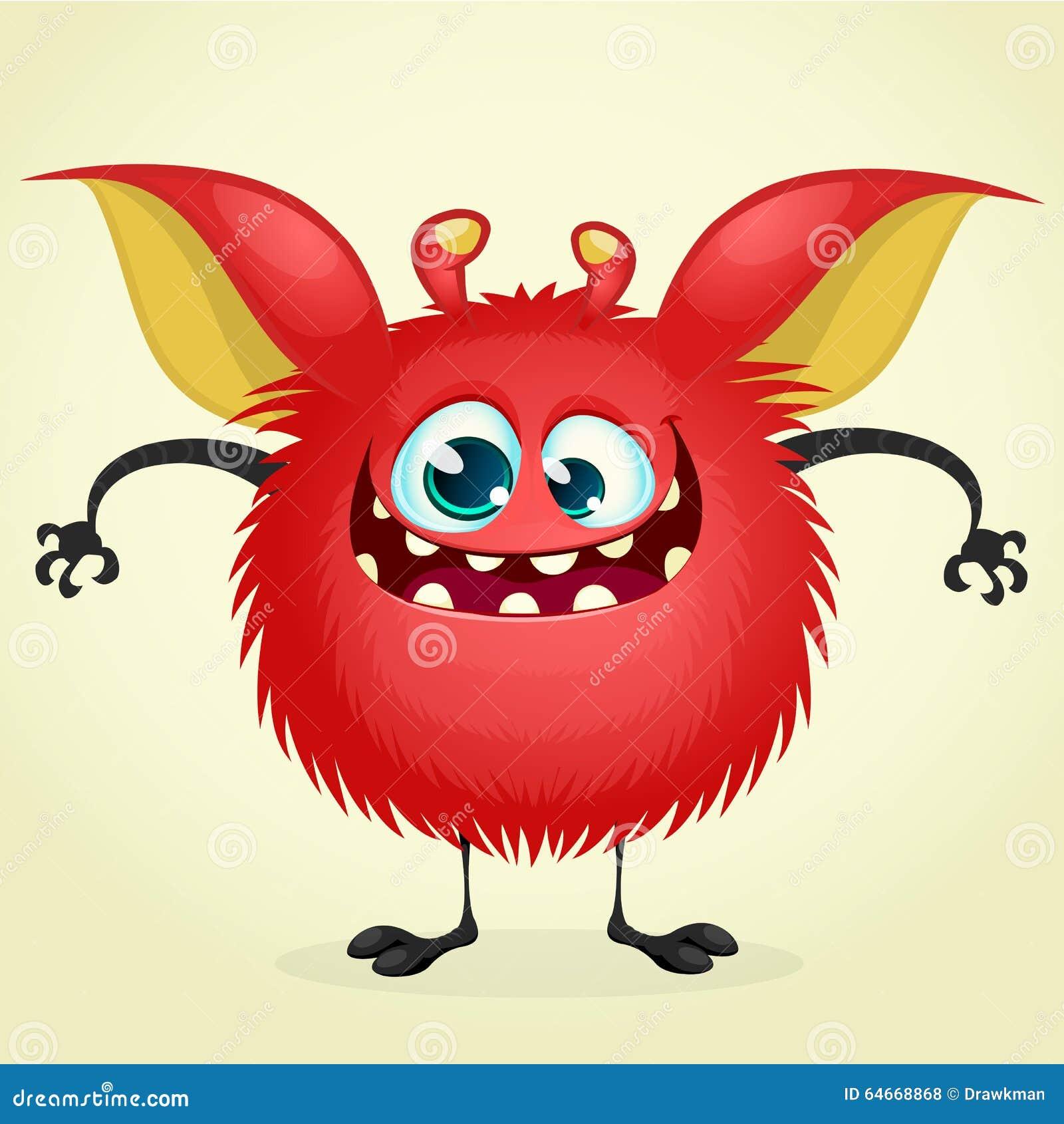 Happy Cartoon Monster Stock Vector - Image: 64668868