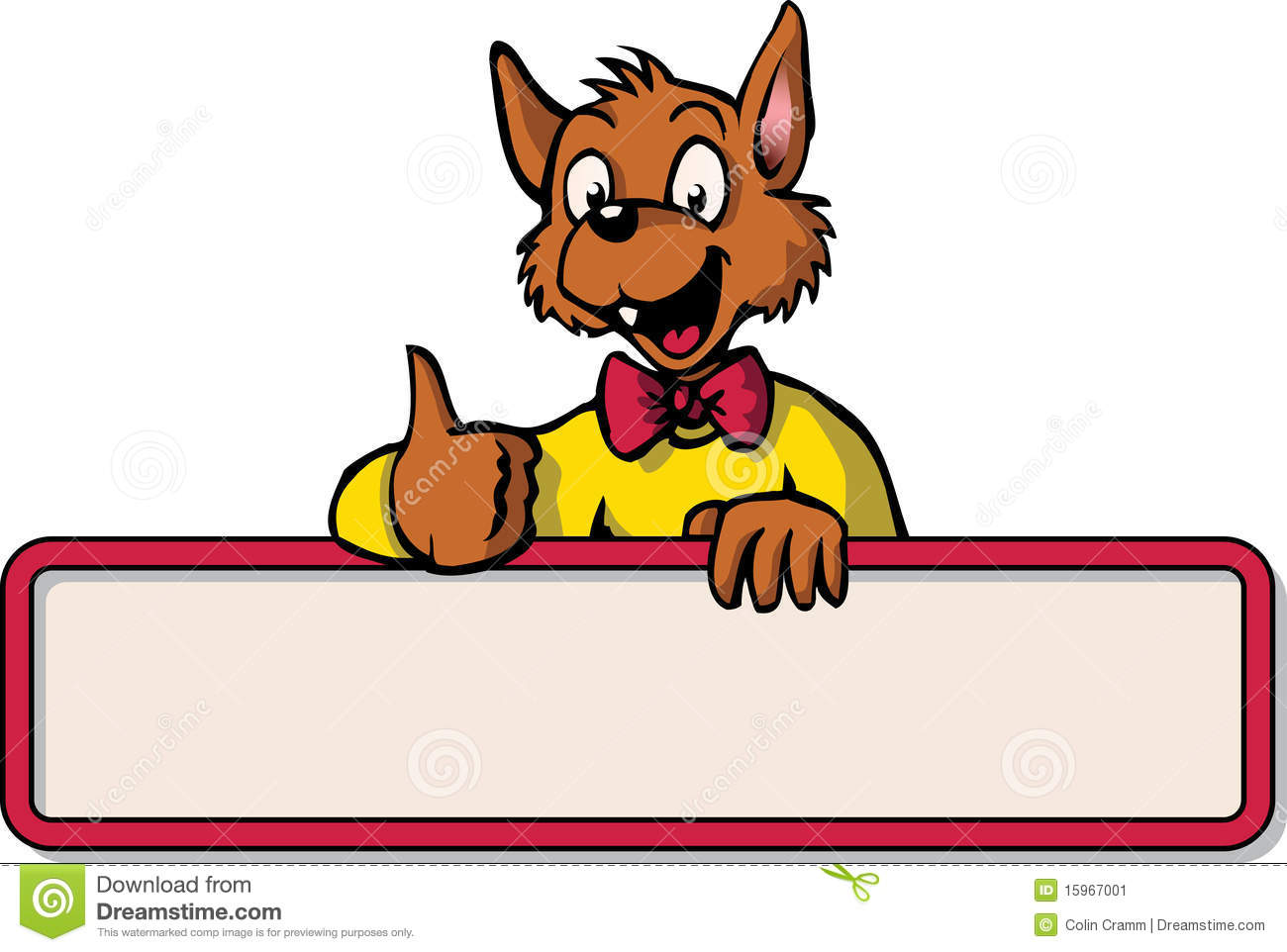 Happy Cartoon Mouse With Bulletin Board Stock Image - Image: 15967001