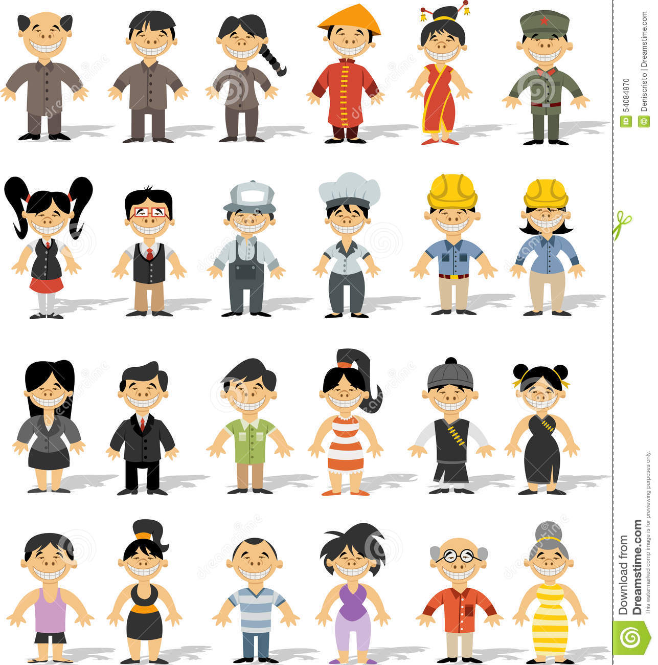 happy-cartoon-people-group-chinese-54084