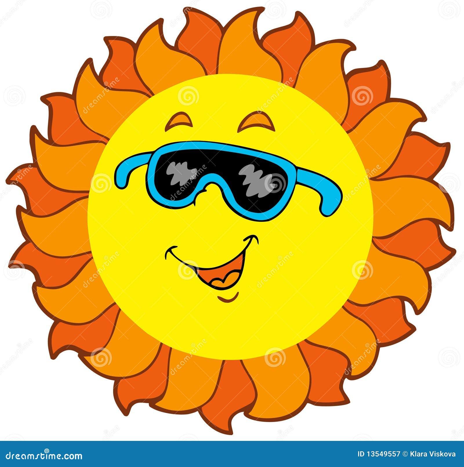 Happy Cartoon Sun Royalty Free Stock Photography