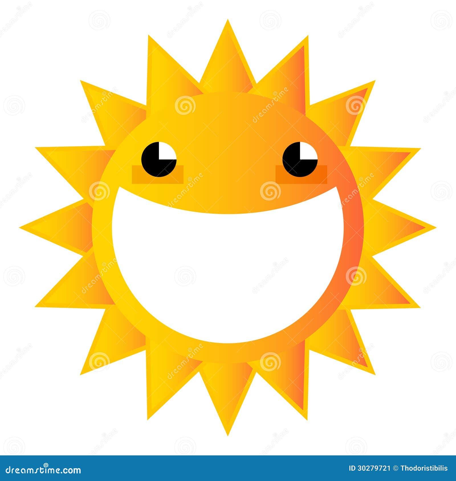 Smiling Cartoon Sun Stock Image