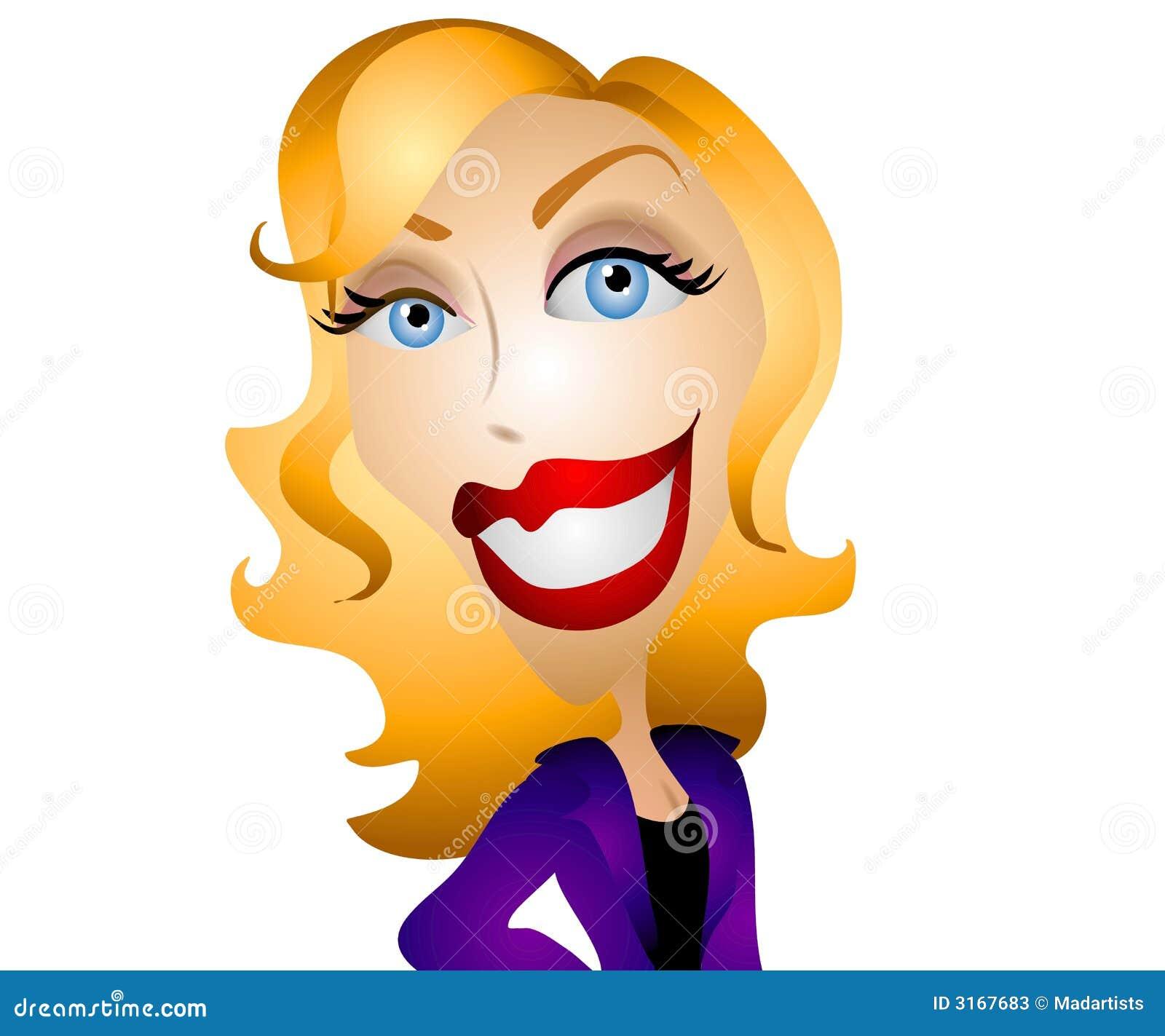 Happy Cartoon Woman 2 Stock Photos - Image: 3167683