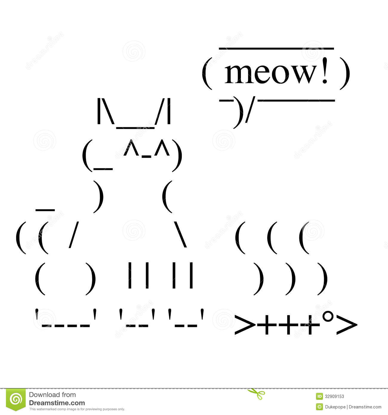 One Line Ascii Art Music : Happy cat stock photos image