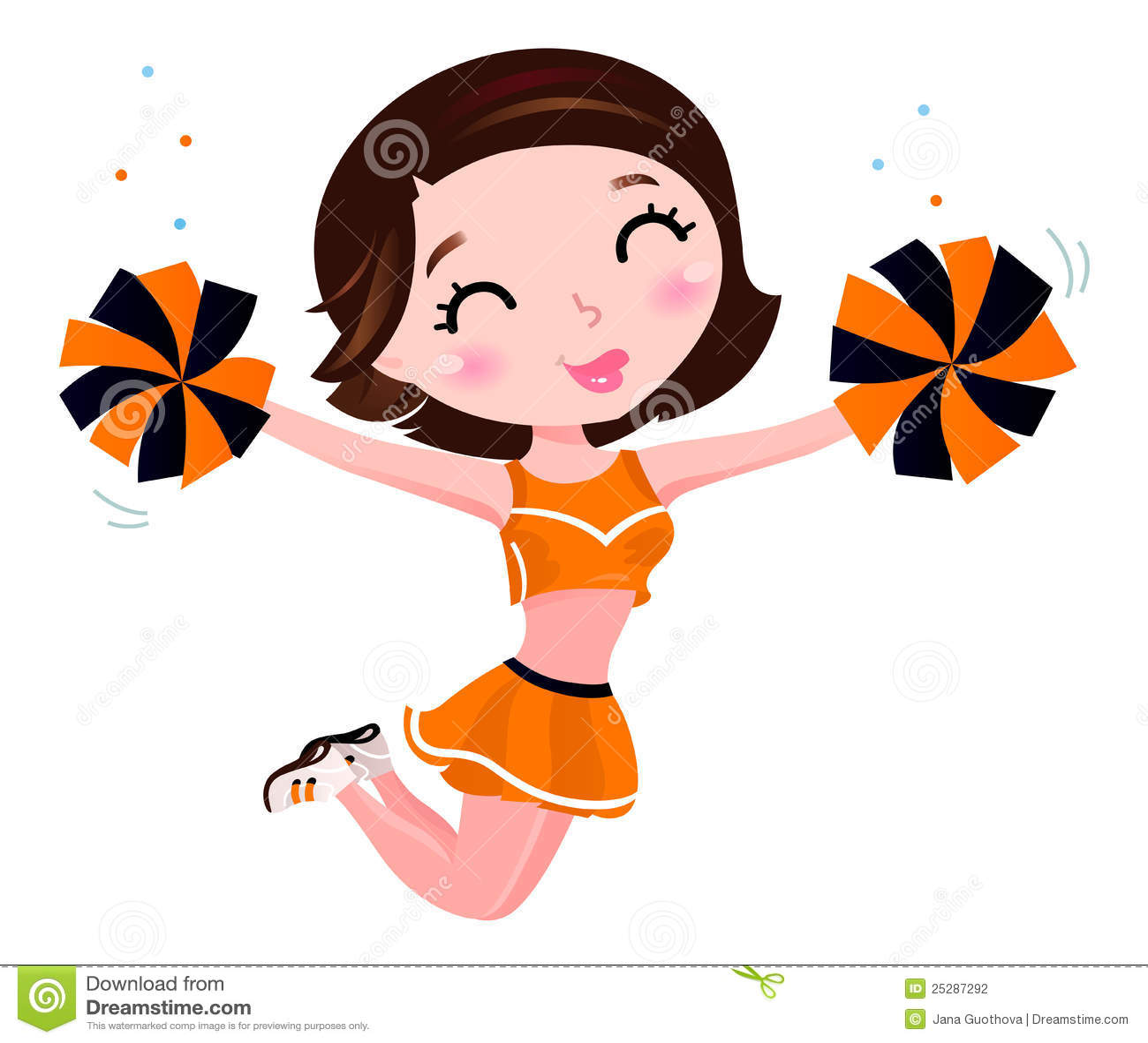 Happy Cheerleader Girl Stock Photography - Image: 25287292