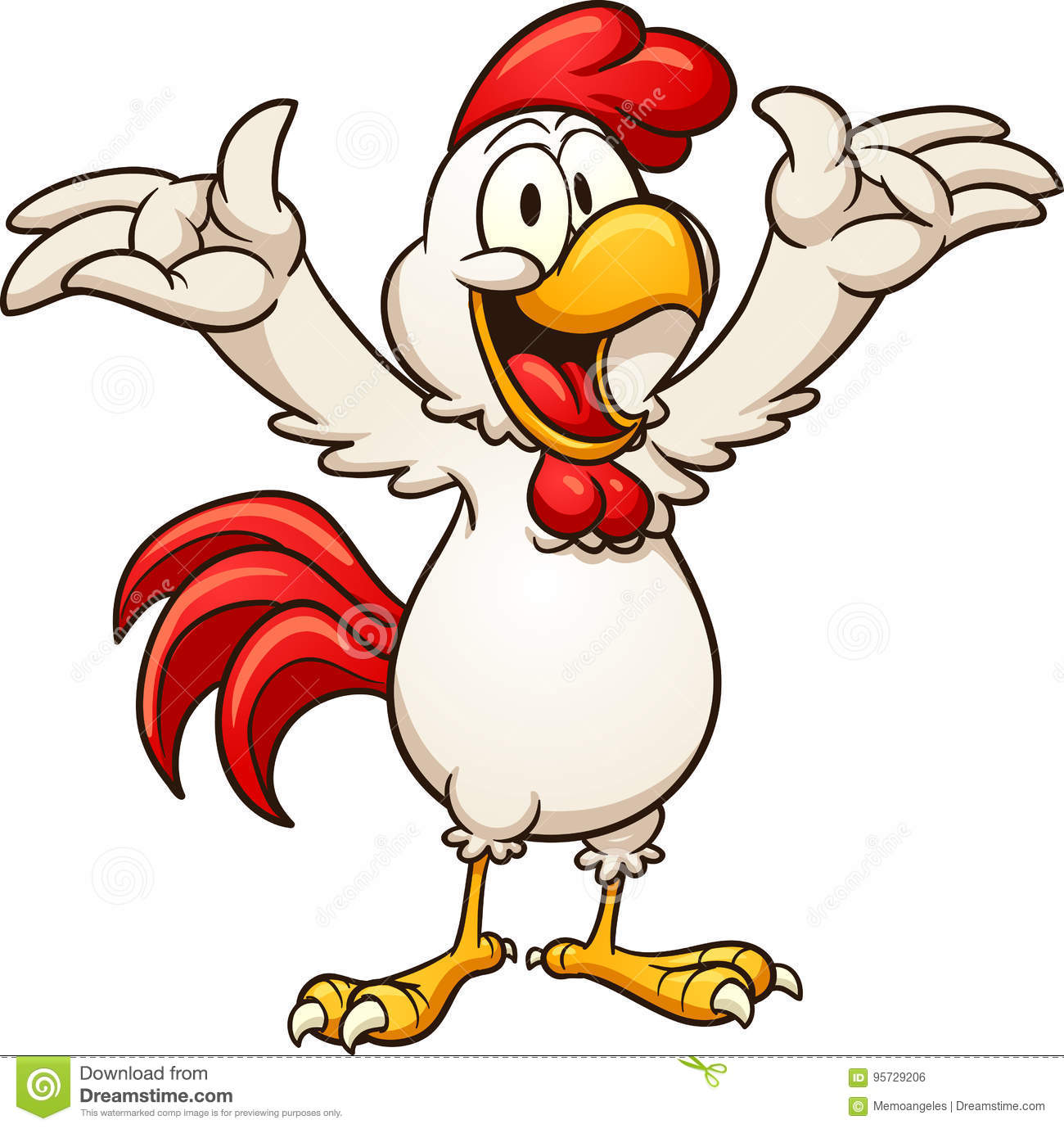 Happy chicken stock vector. Illustration of happy, rooster ...
