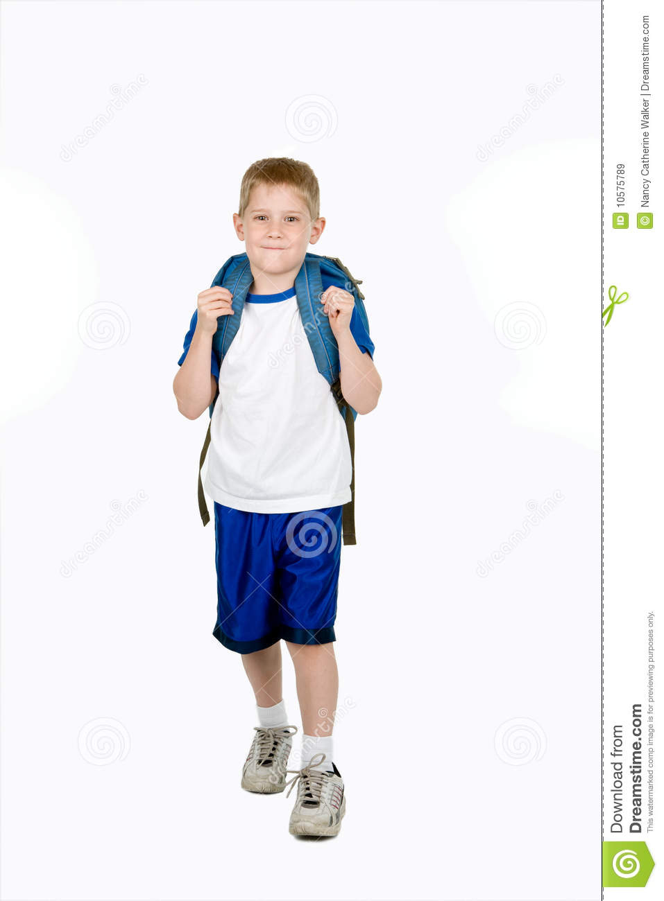 Happy Child with Backpack