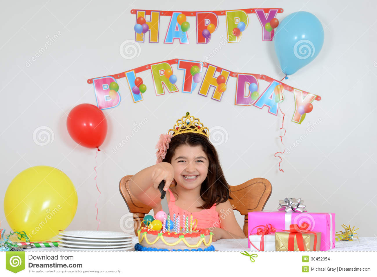 Happy Child Cutting Birthday Cake Stock Images - Image: 30452954 Happy Child Clipart