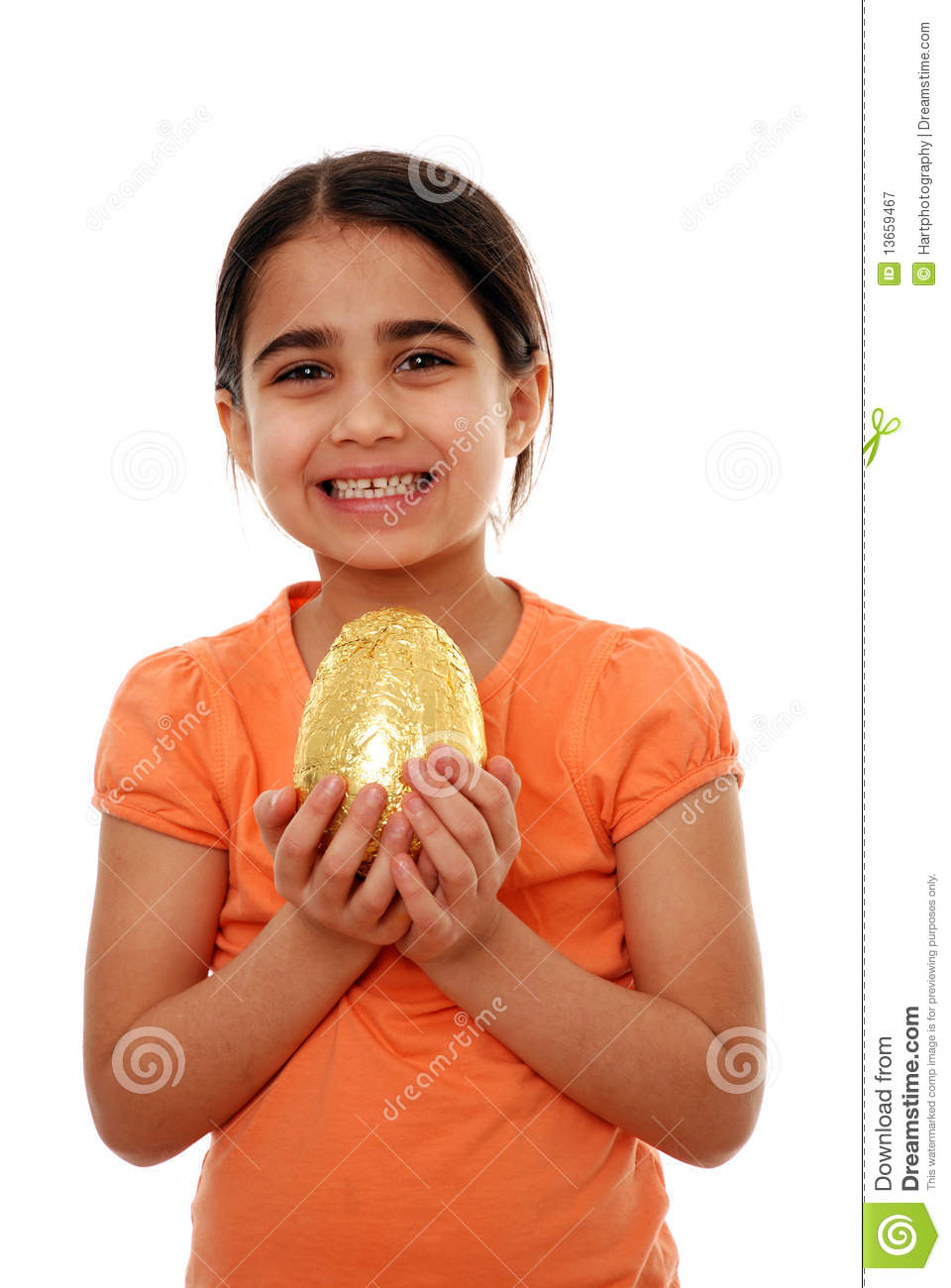 Happy child with Easter egg