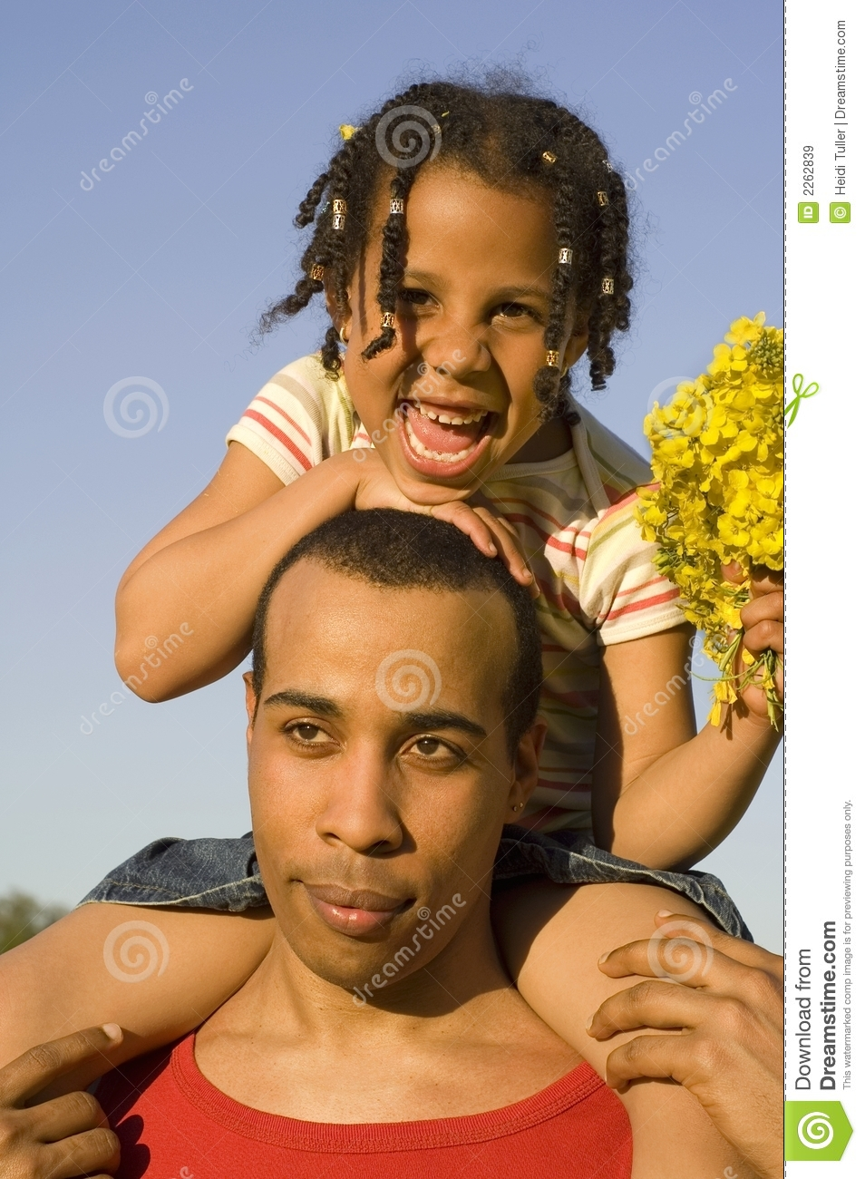 Happy child with father