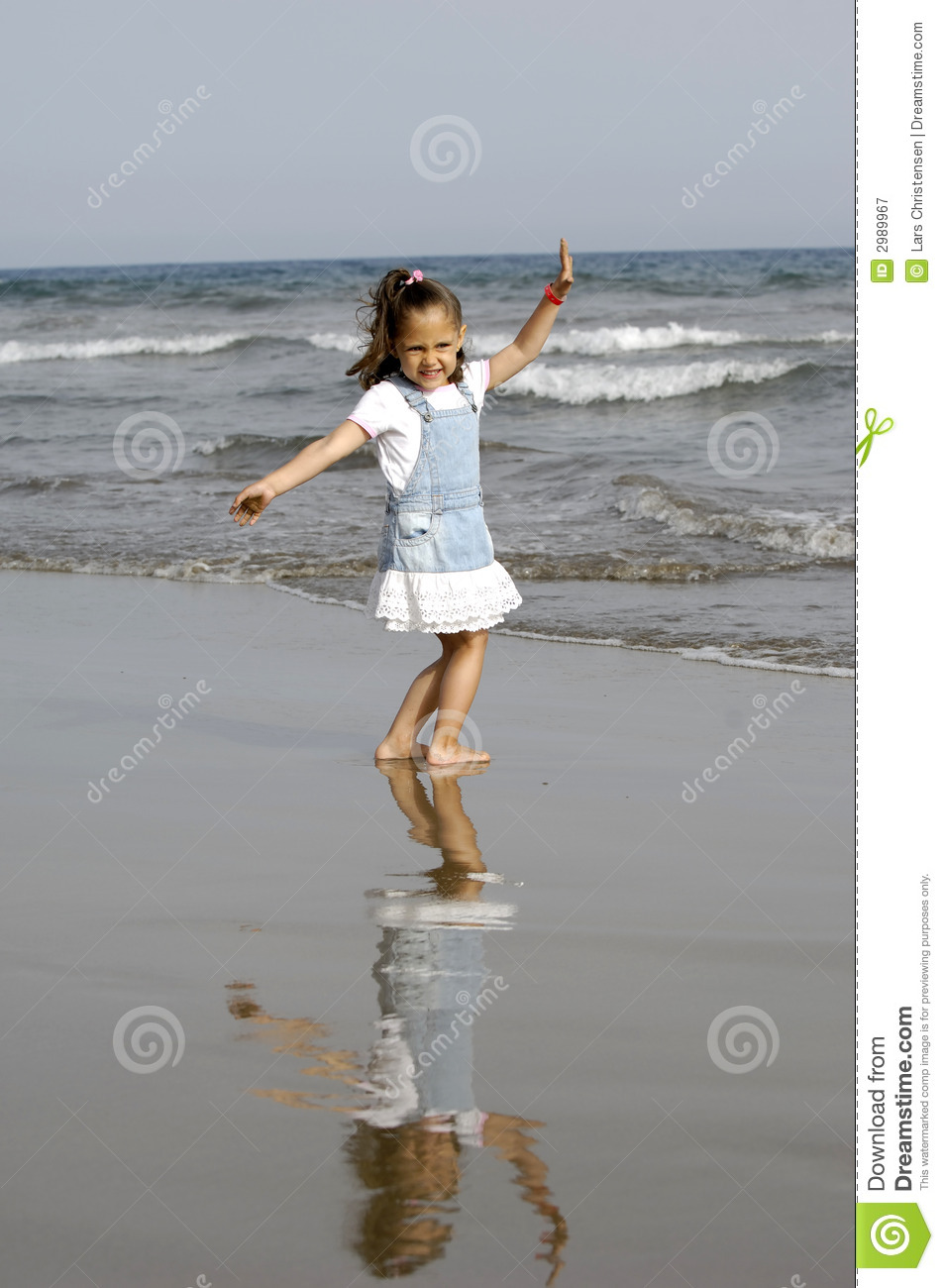 9d07f8a7387 Happy child and ocean stock image. Image of dress