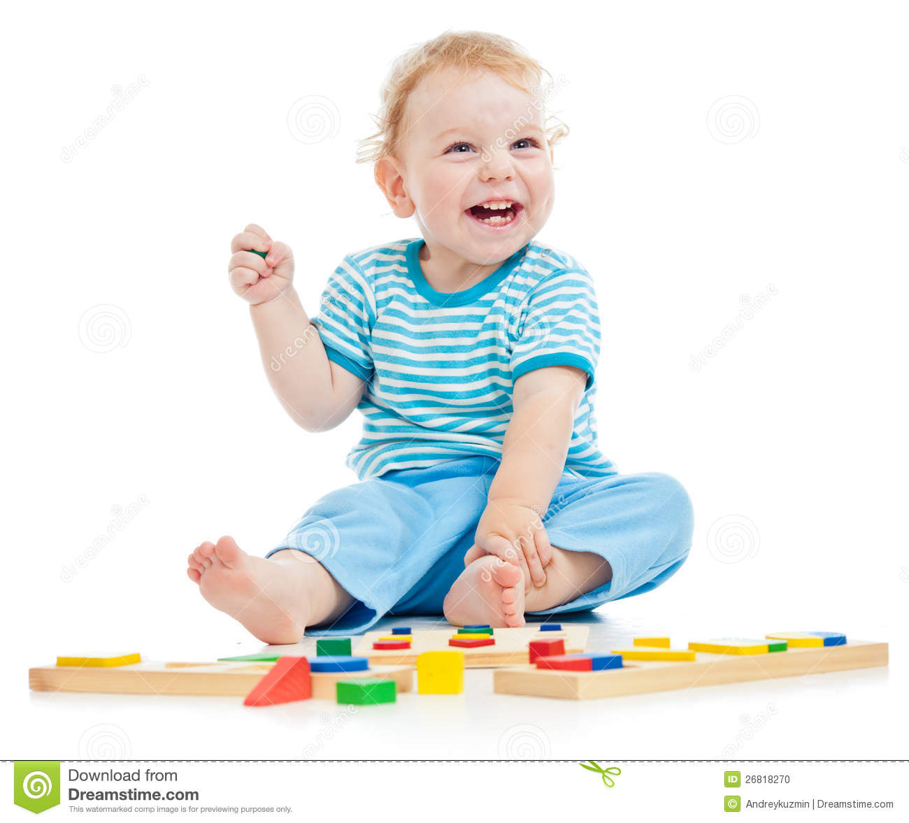 Happy Child Playing St...