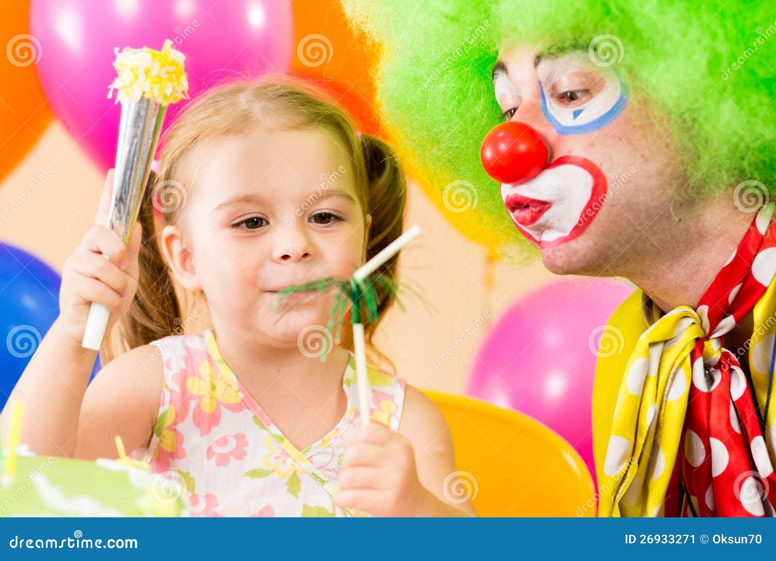 Конкурсы с клоуном на день рождения