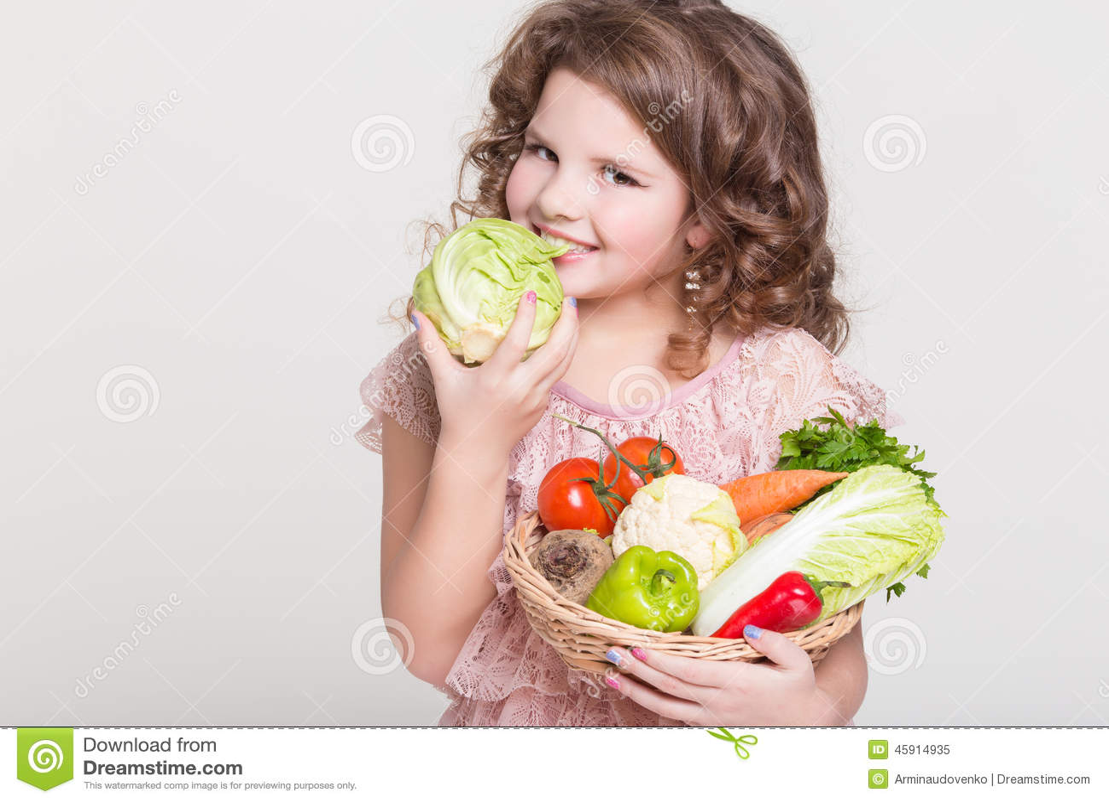 happy child portrait with organic vegetables  little girl fruit basket clipart png fruit basket clipart free