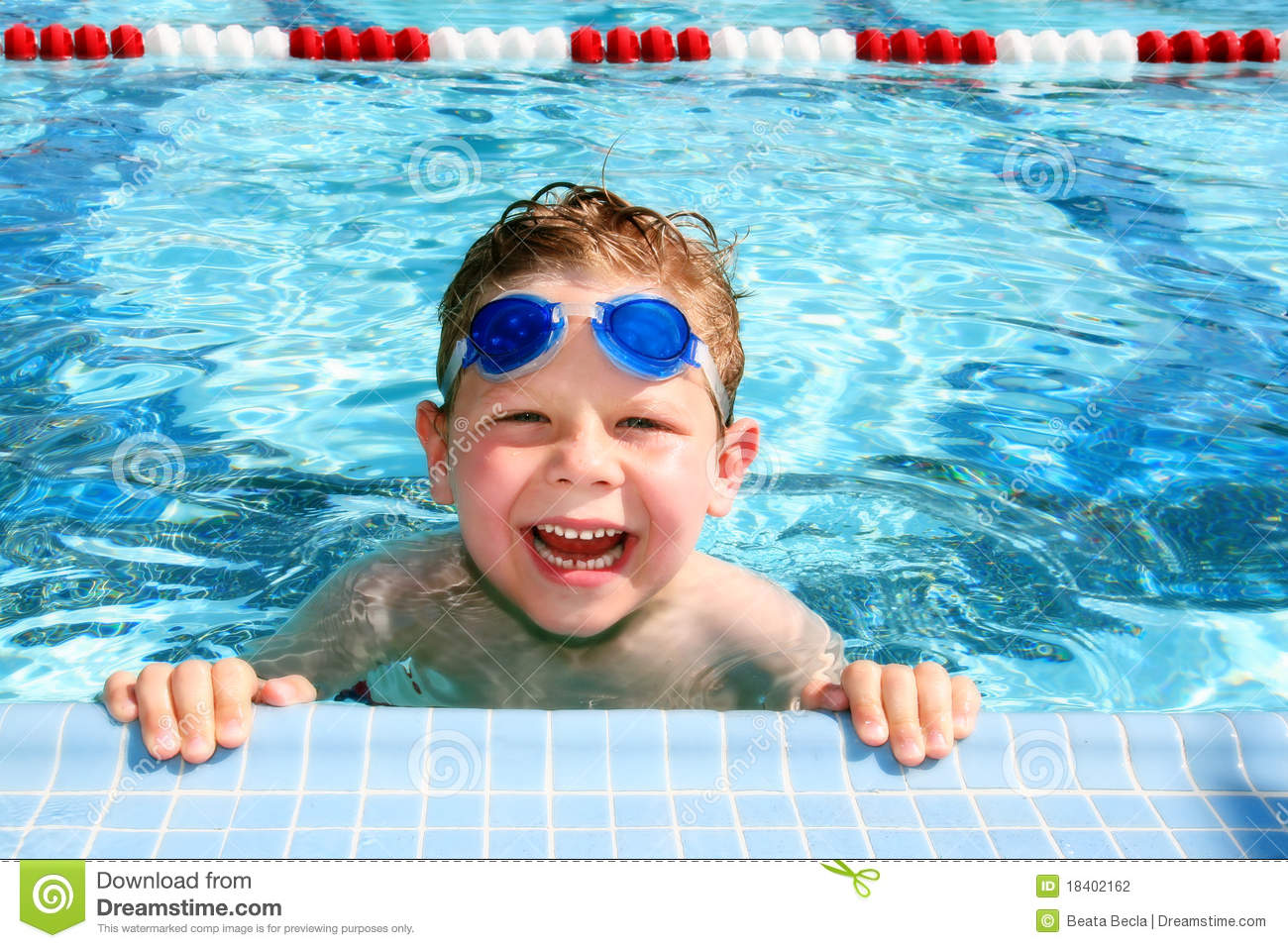 Happy Child In A Swimming Pool Stock Photography Image 18402162