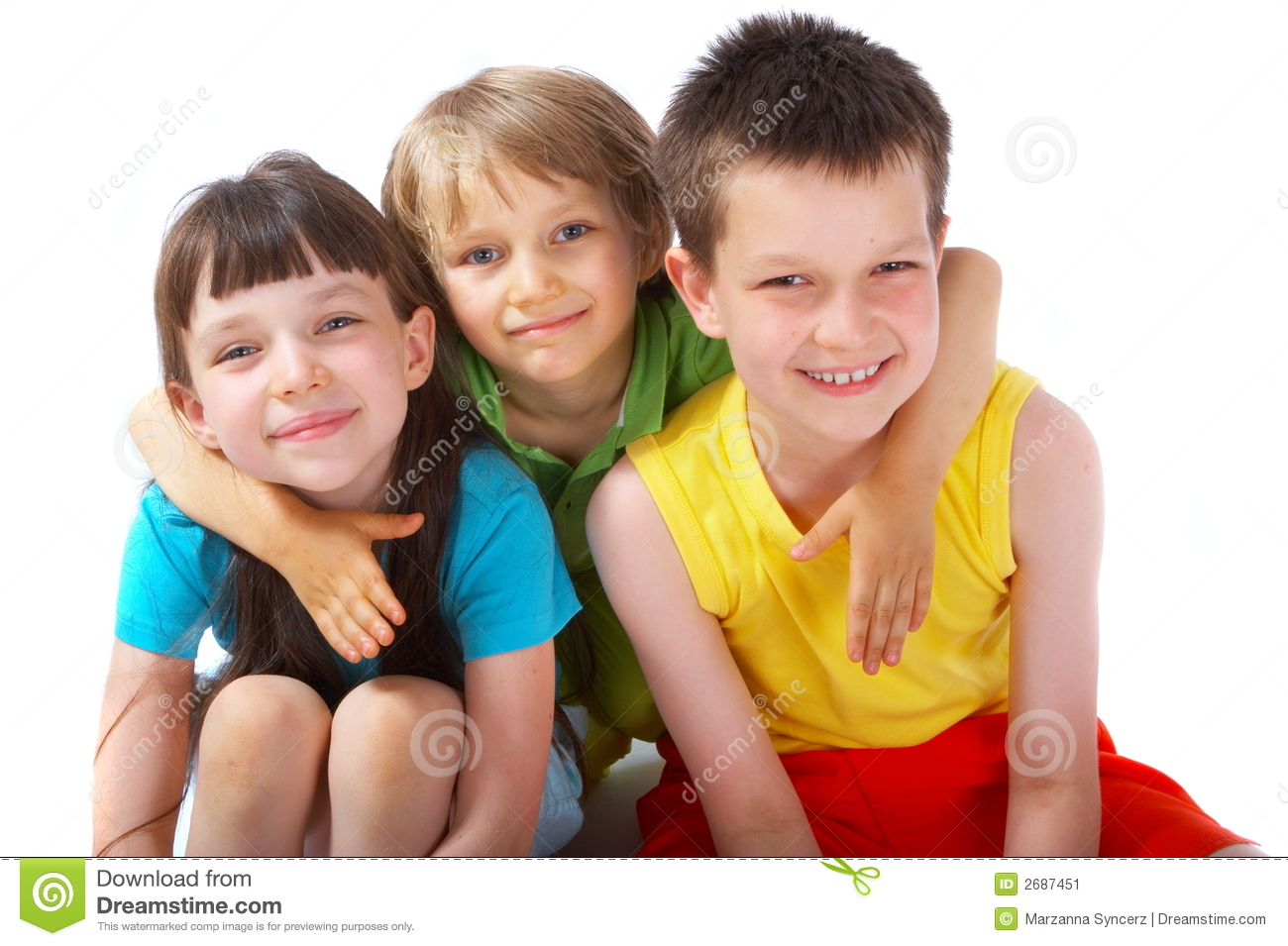 Happy children stock image. Image of sister, siblings ...