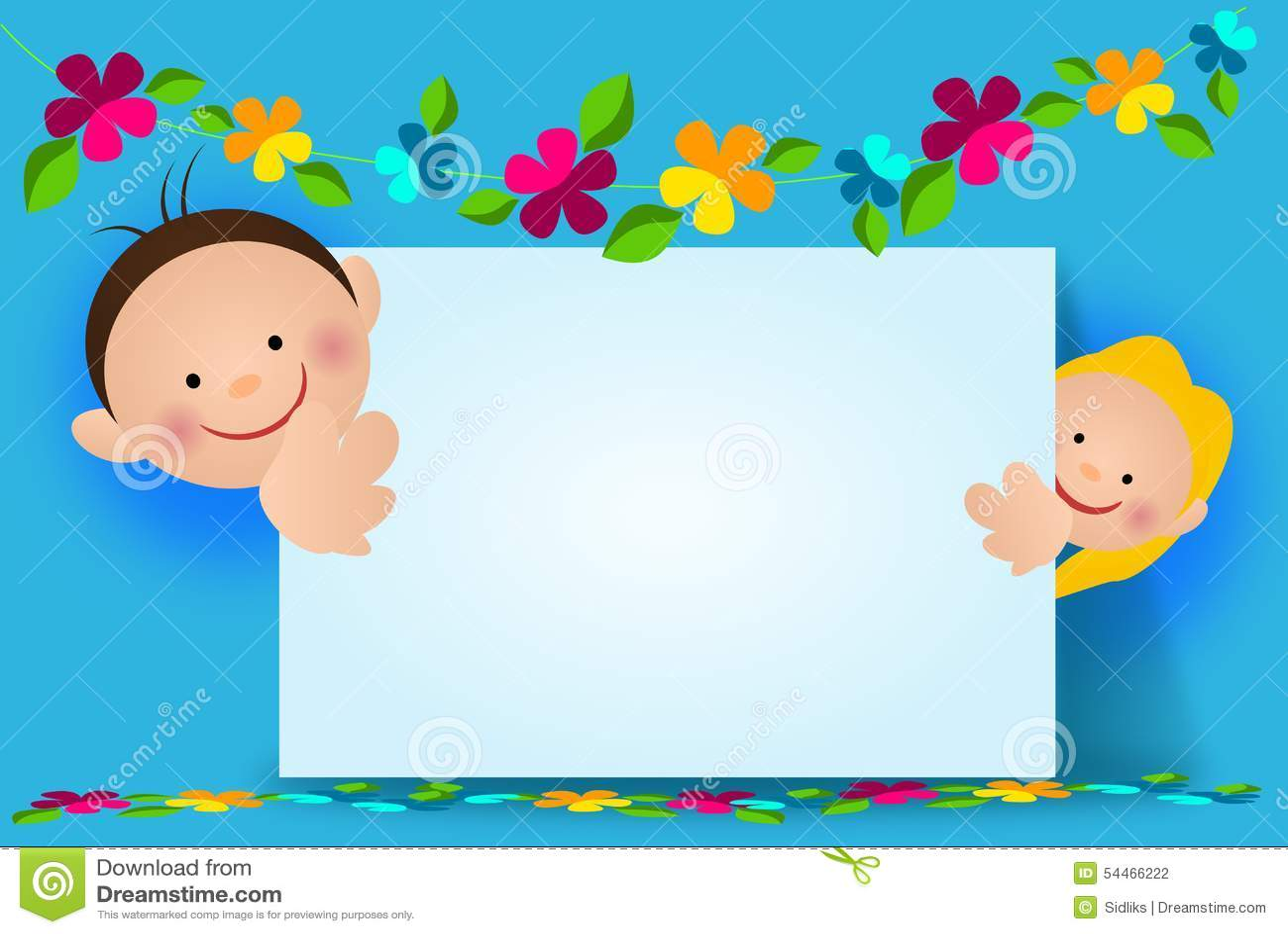 Happy children background stock illustration. Image of ...