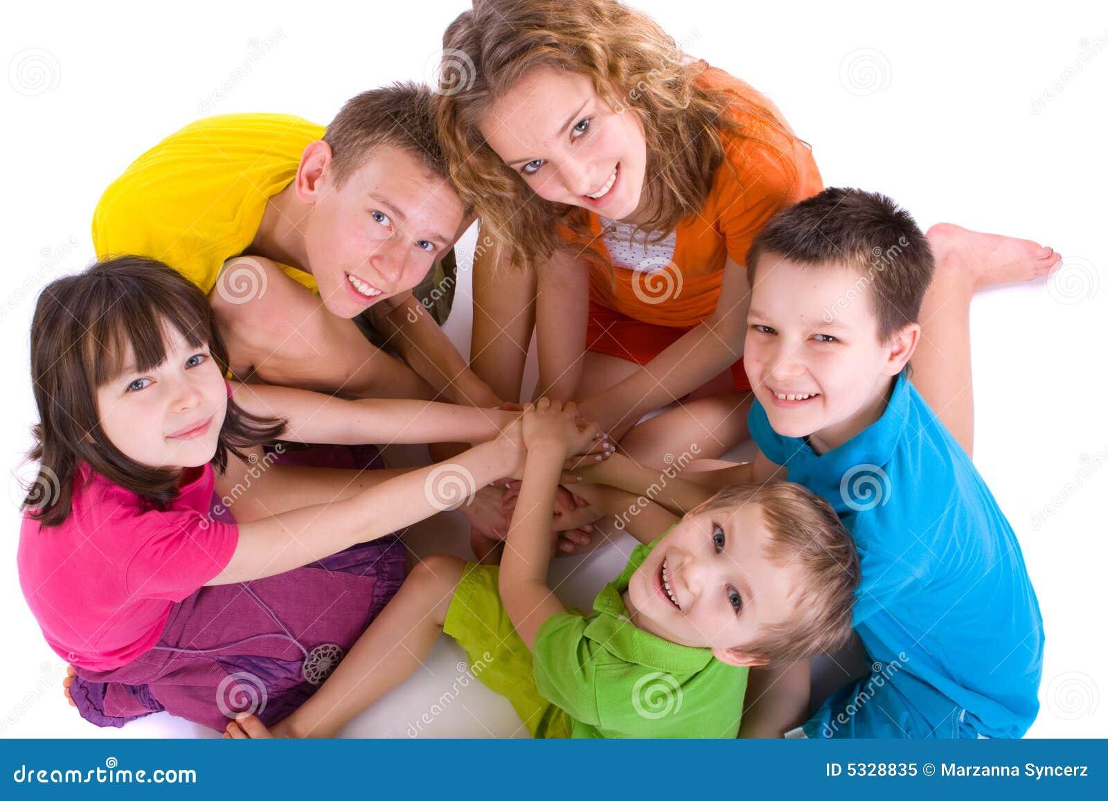 Happy Children in a Circle