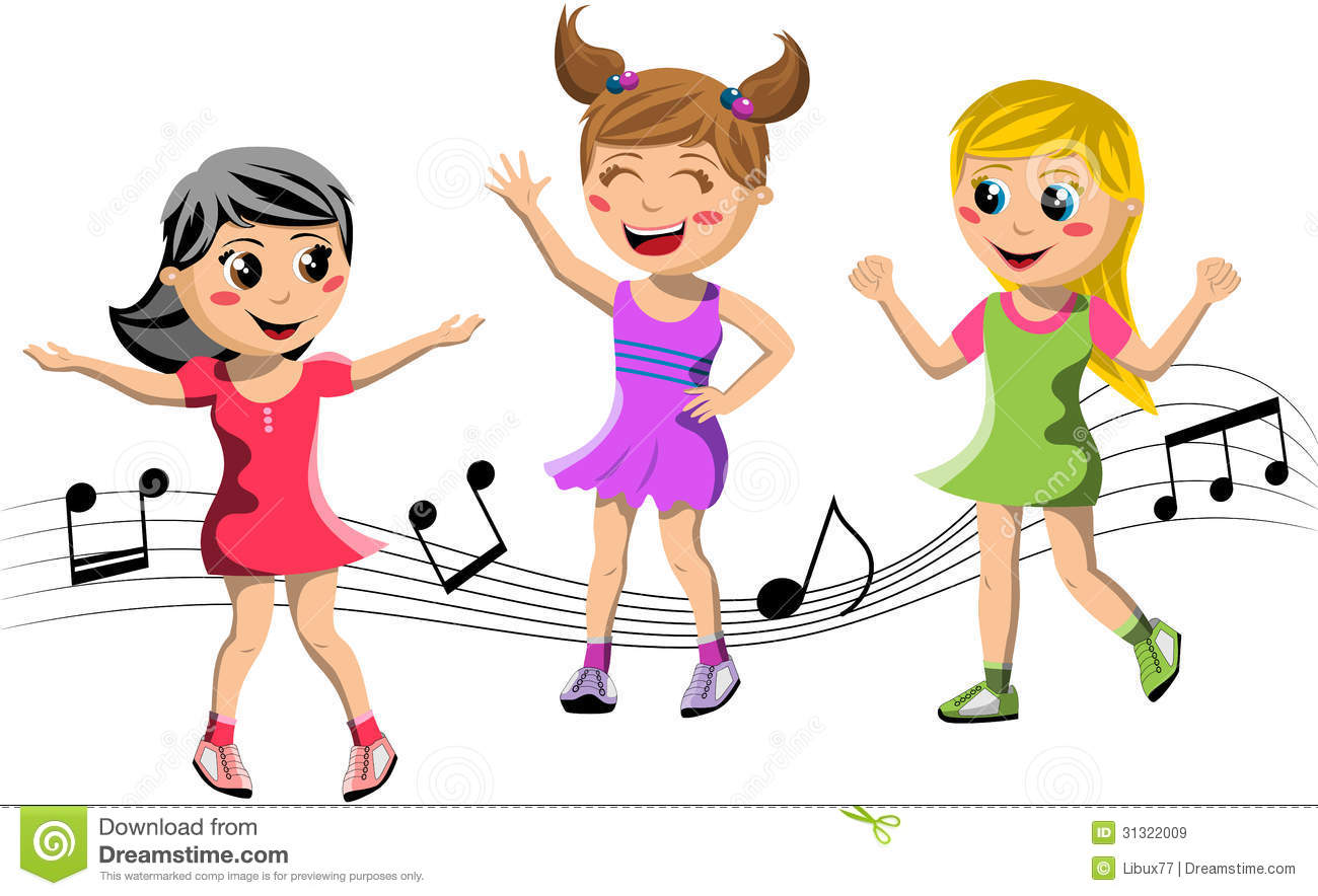 Happy Children Dancing Royalty Free Stock Images - Image: 31322009