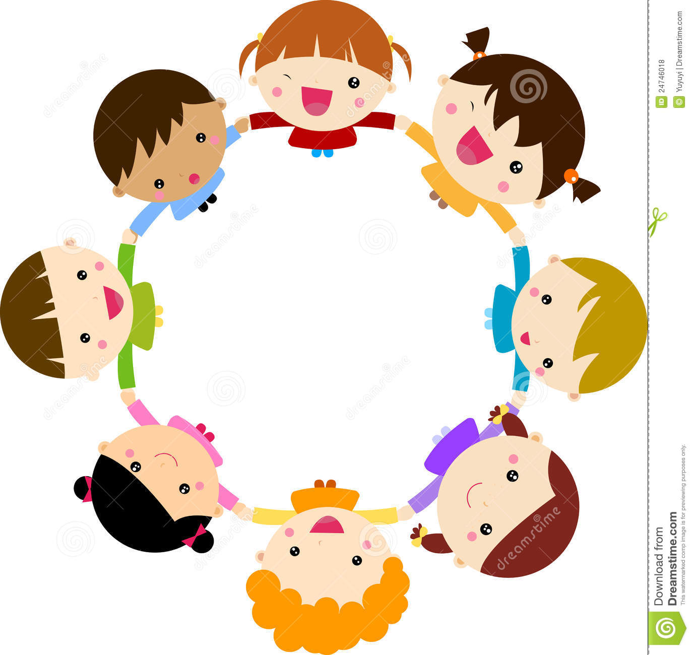 Happy Children Hand In Hand Around Royalty Free Stock Photos - Image ...