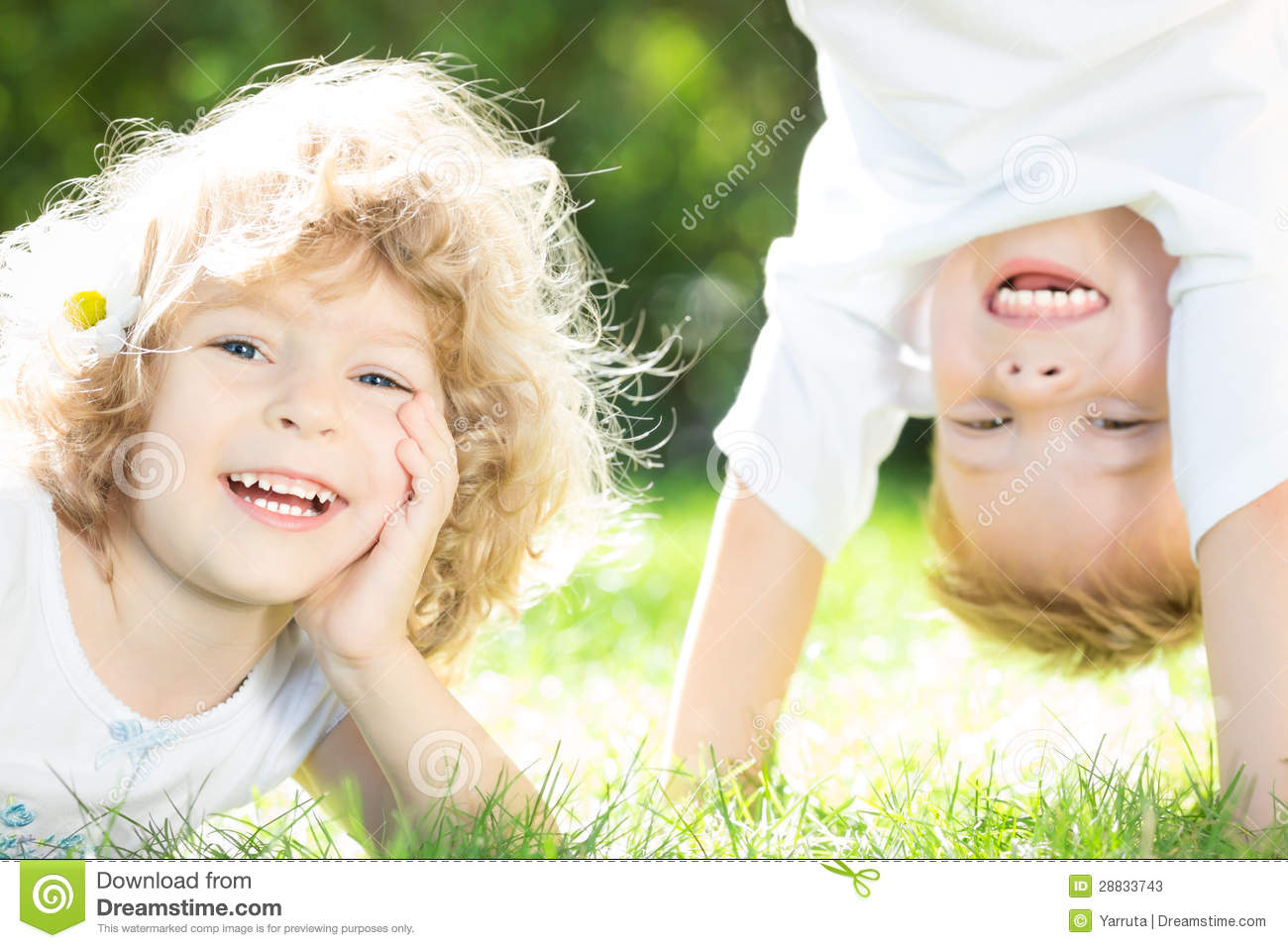 Happy children playing