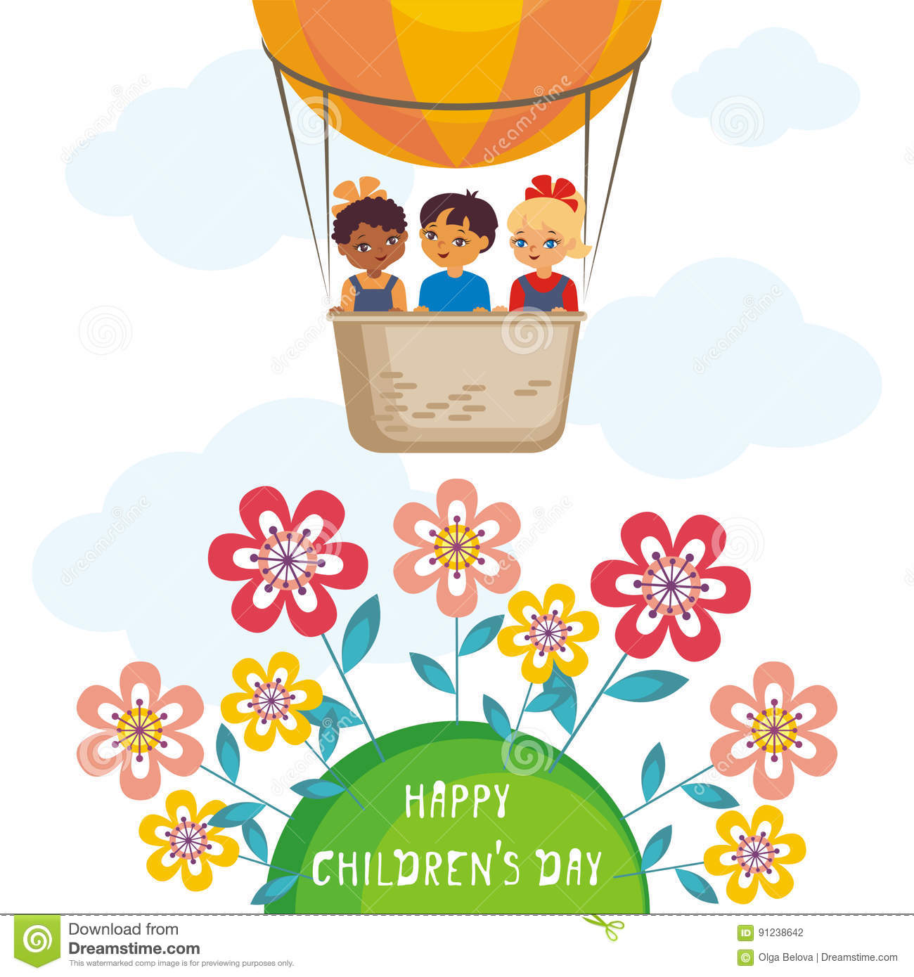 Happy Childrens Day Stock Vector Illustration Of Balloon 91238642