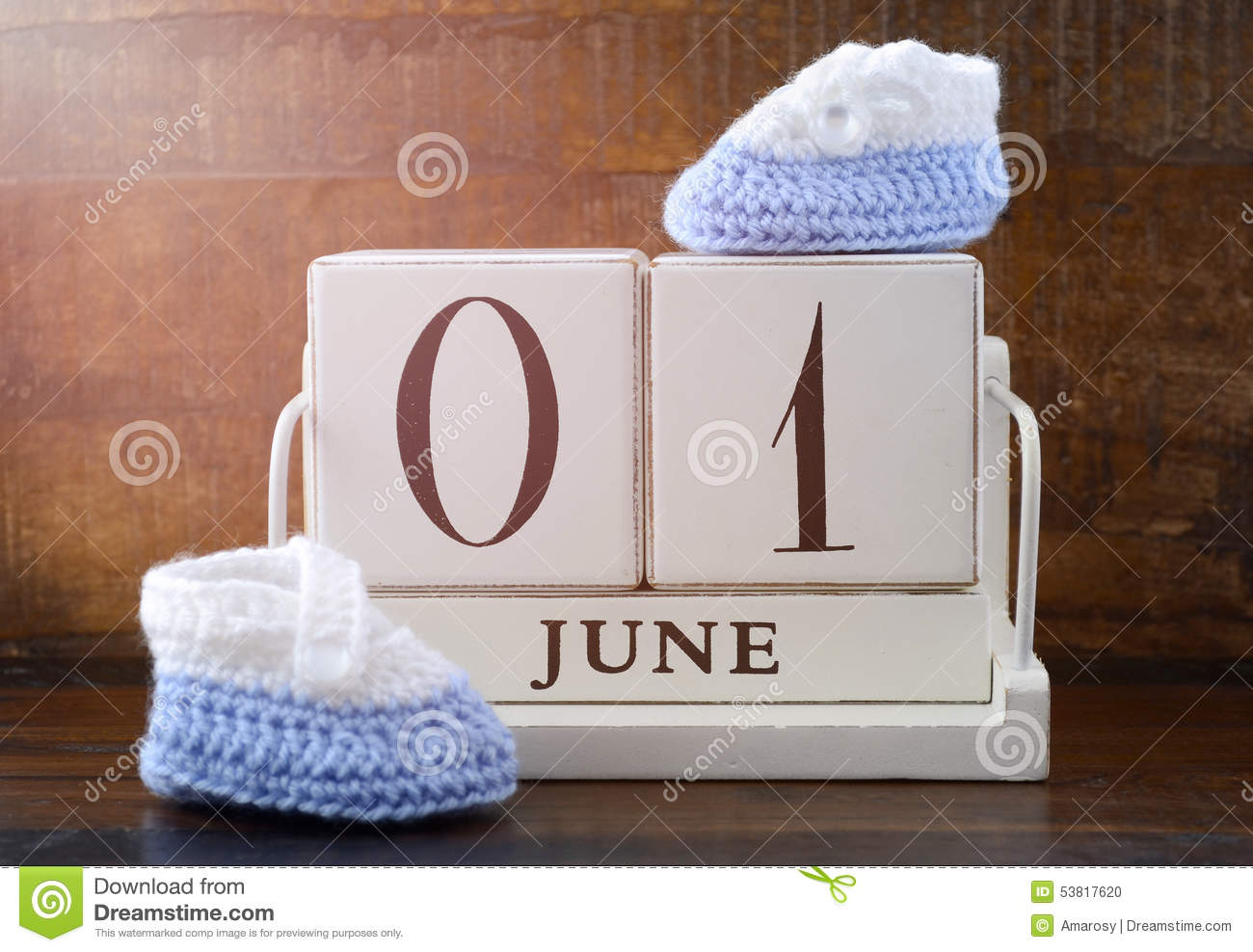 happy childrens day concept with june first calendar stock