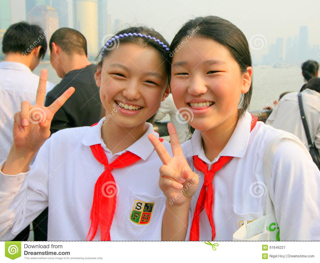 chinese school girls