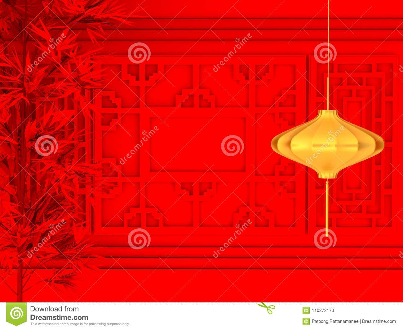 happy chinese new year 2018 abstract on red background minimal concept 3d rendering