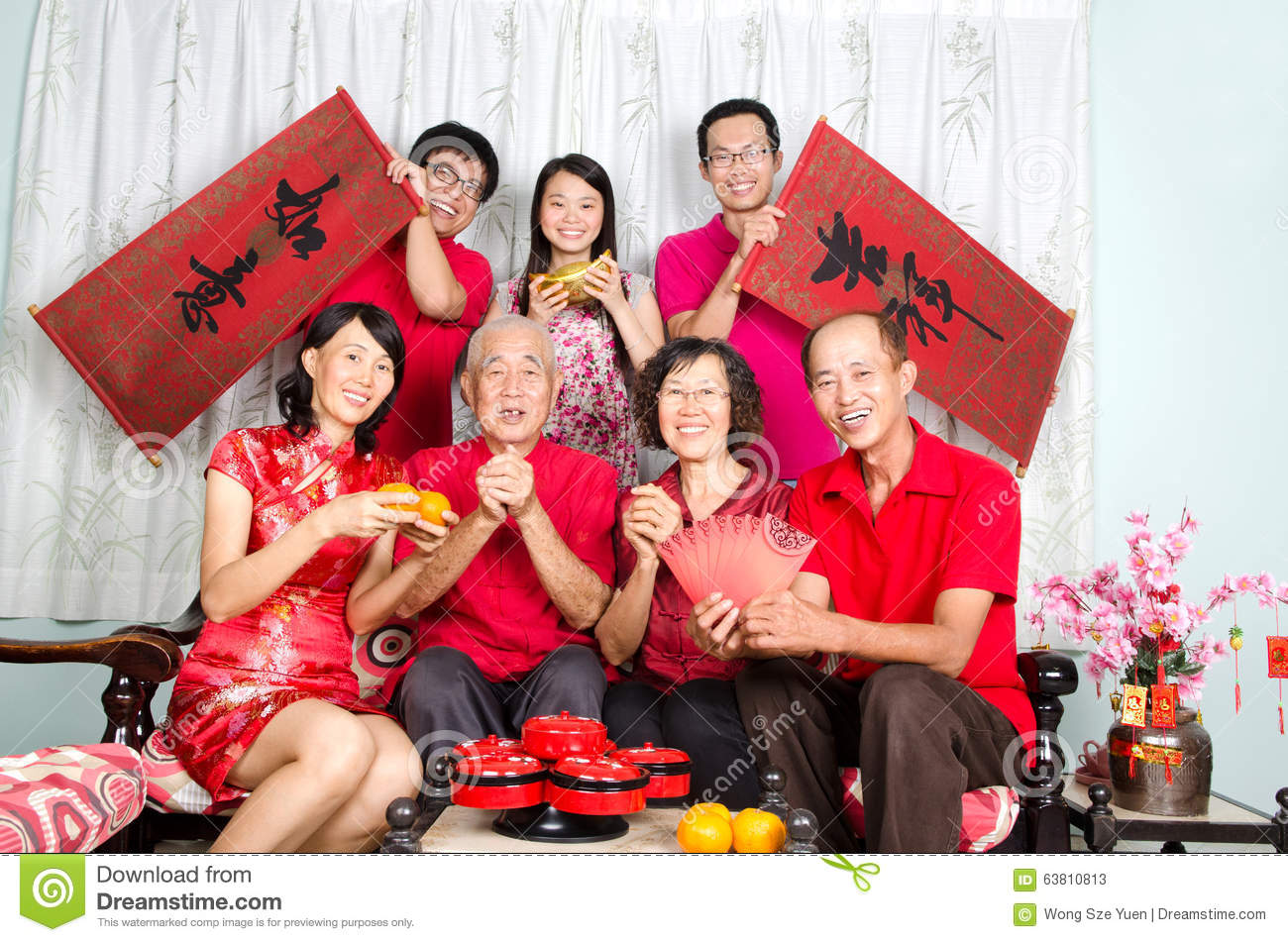 Happy chinese new year stock photo. Image of costume ...