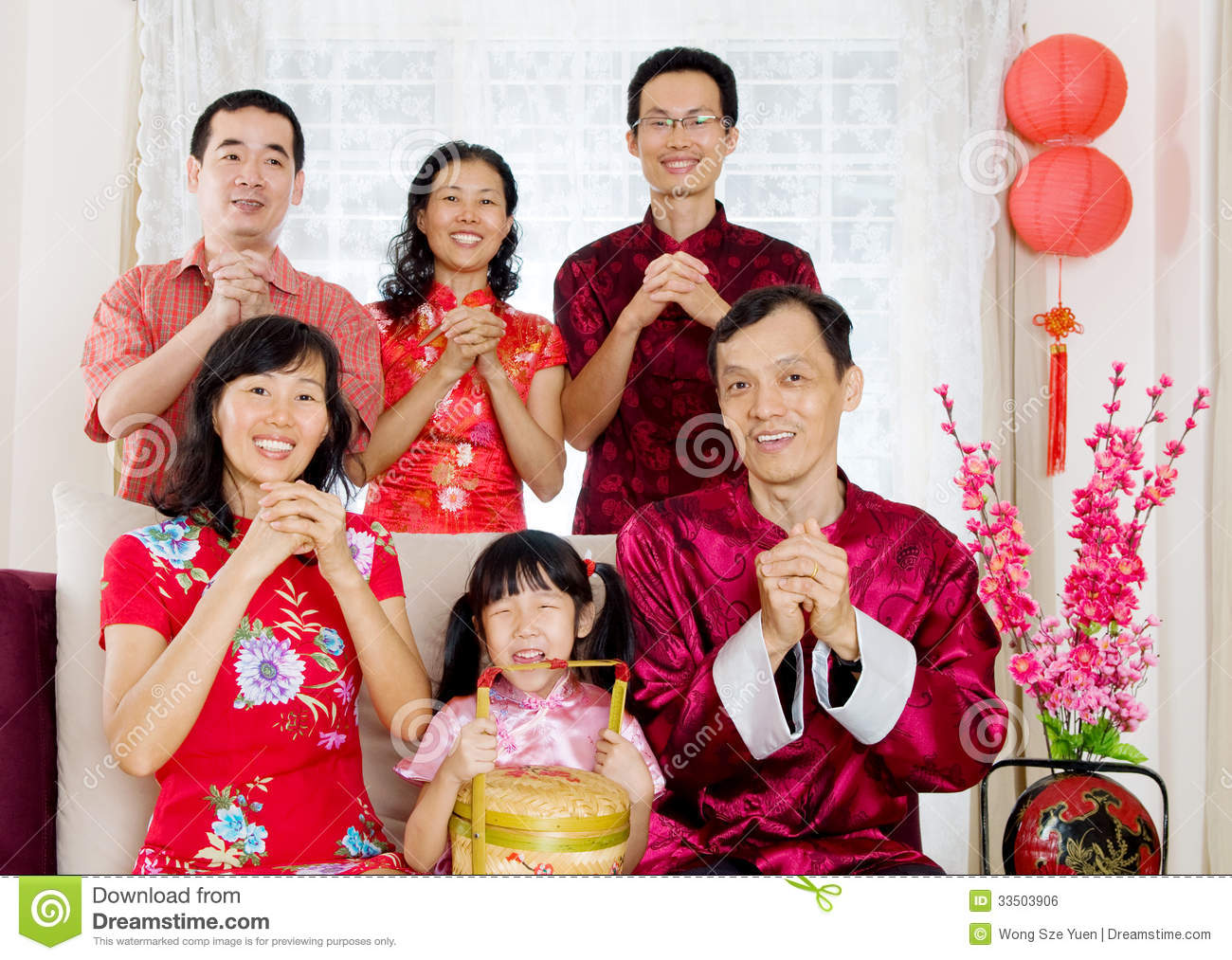 Chinese New Year Giving Red Packets Stock Image - Image of ...