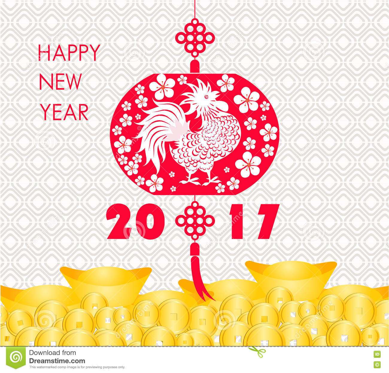 Happy chinese new year 2017 card is gold coins money lanterns plum download happy chinese new year 2017 card is gold coins money lanterns plum blossom m4hsunfo