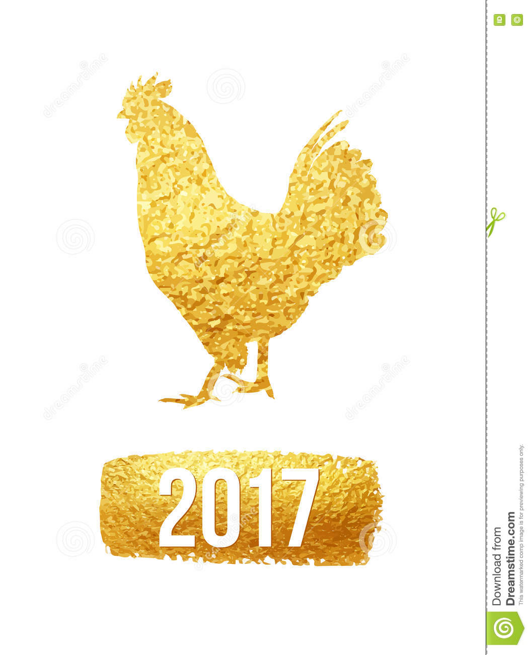 happy 2017 chinese new year card vector poster of a golden rooster isolated on white background design template for illustration 78886003 megapixl