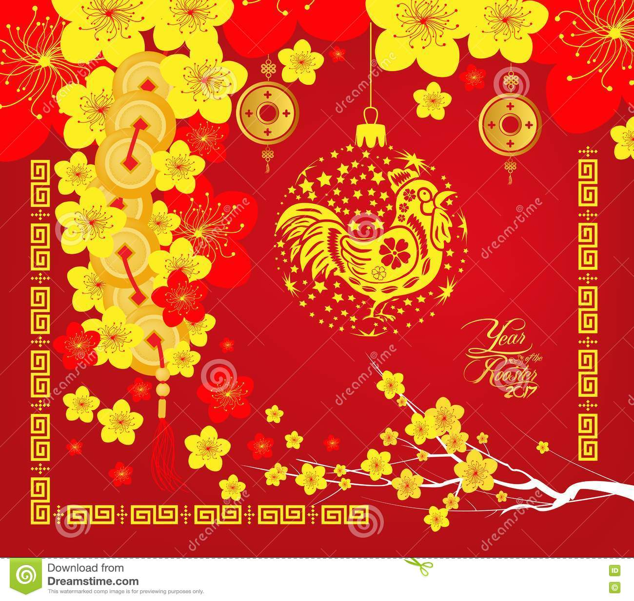 Chinese New Year 2017 Greeting Card Stock Photos, Images ...