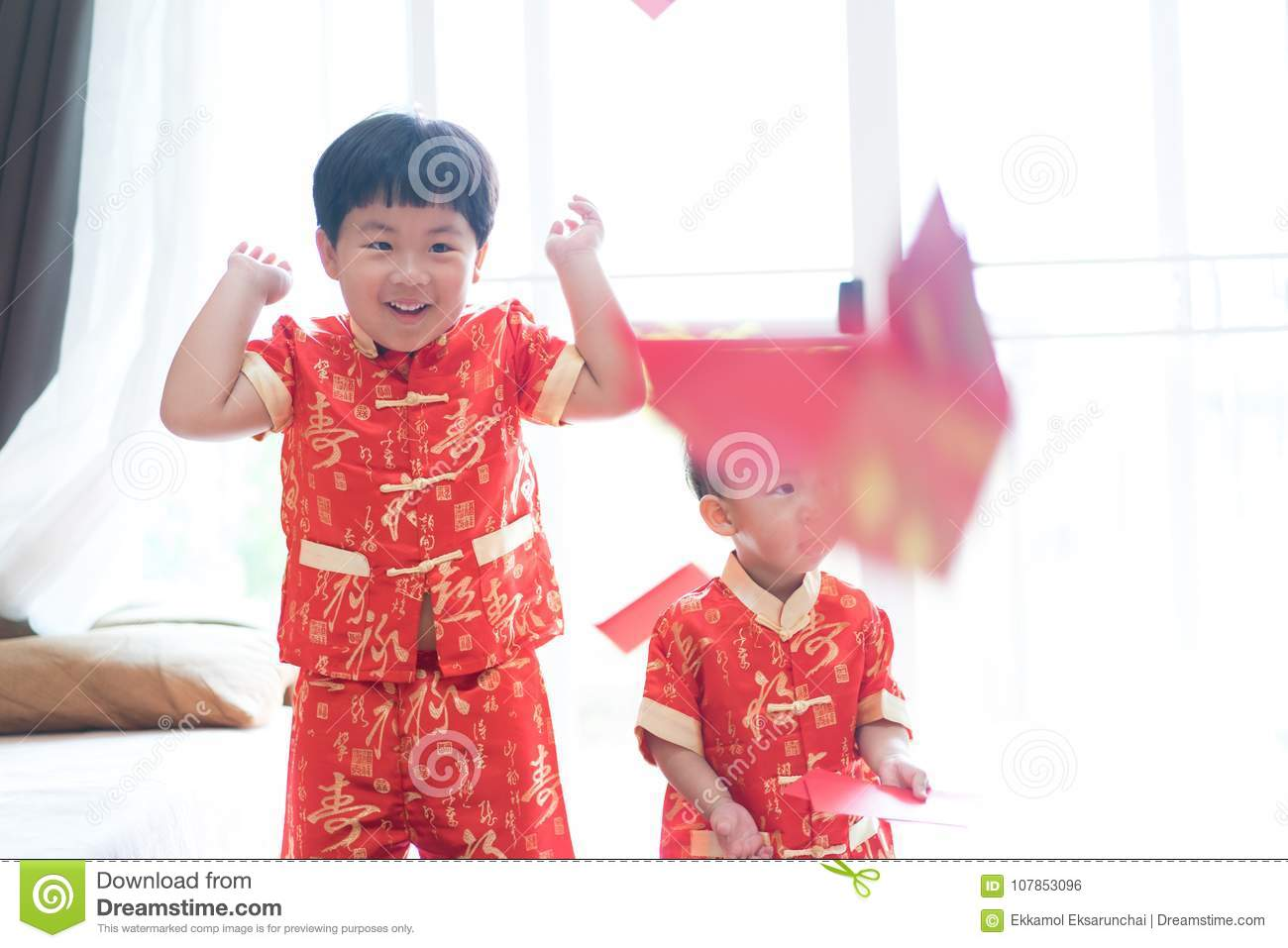 Chinese Boys In Chinese New Year Festival Stock Photo Image Of
