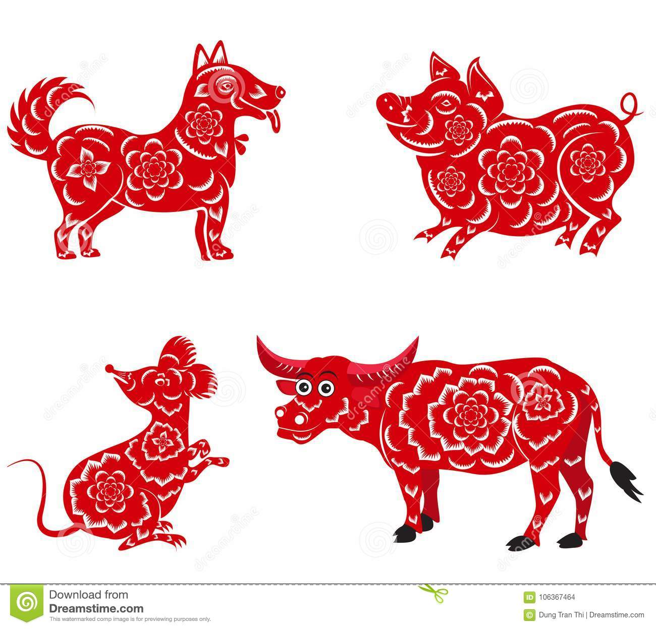 Happy Chinese New Year 2018, 2019, 2020, 2021   With Dog