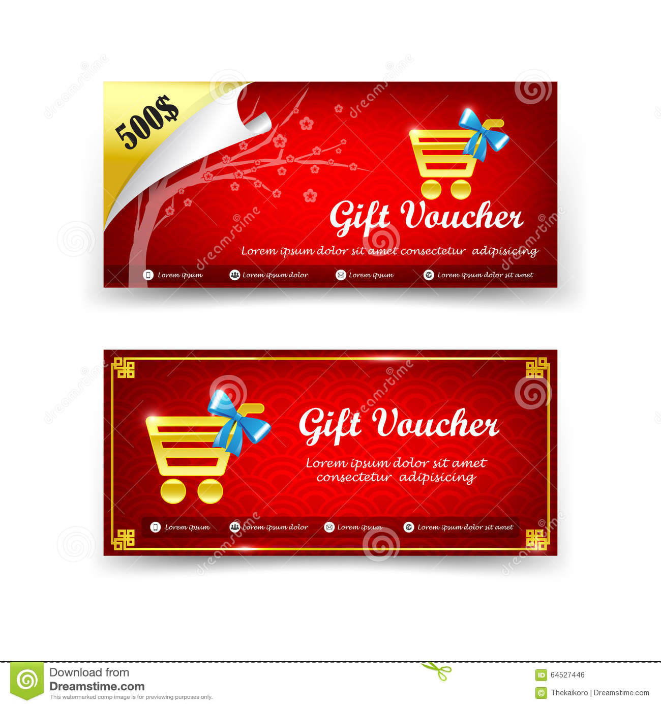 Chinese vector certificate template stock vector image 69971655 happy chinese new year gift voucher template vector illustration royalty free stock image yelopaper Gallery