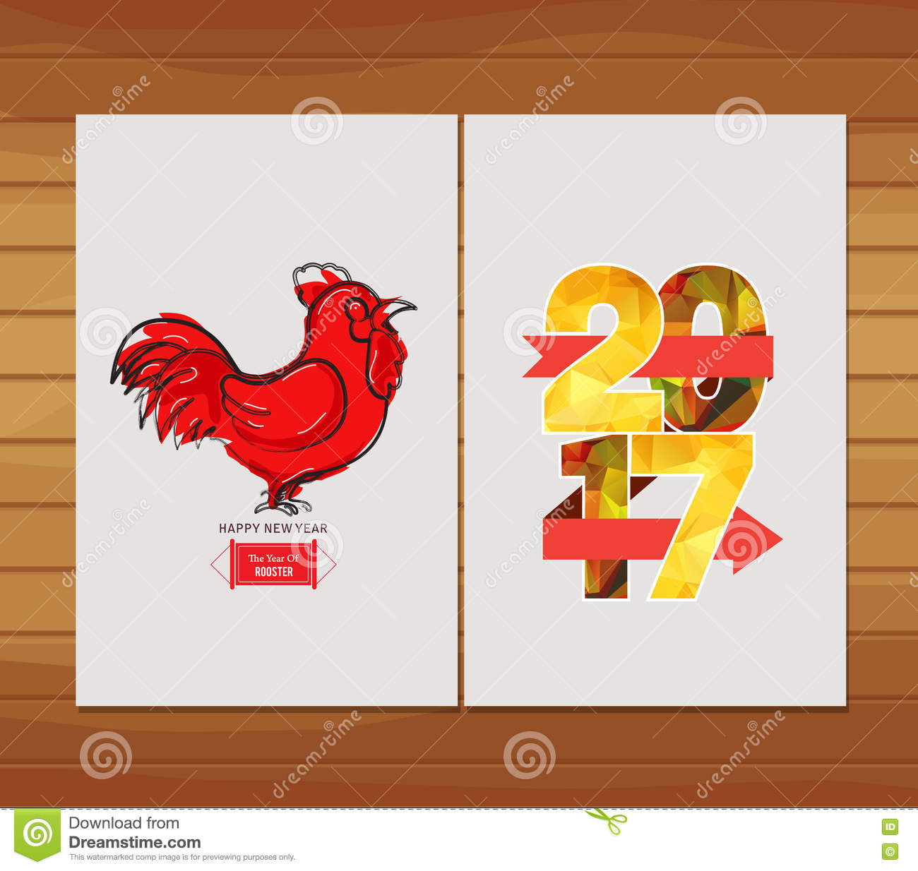New year 2017 greeting pictures year of rooster happy chinese new year - Happy Chinese New Year 2017 Greeting Card Year Of The Rooster Stock Photo