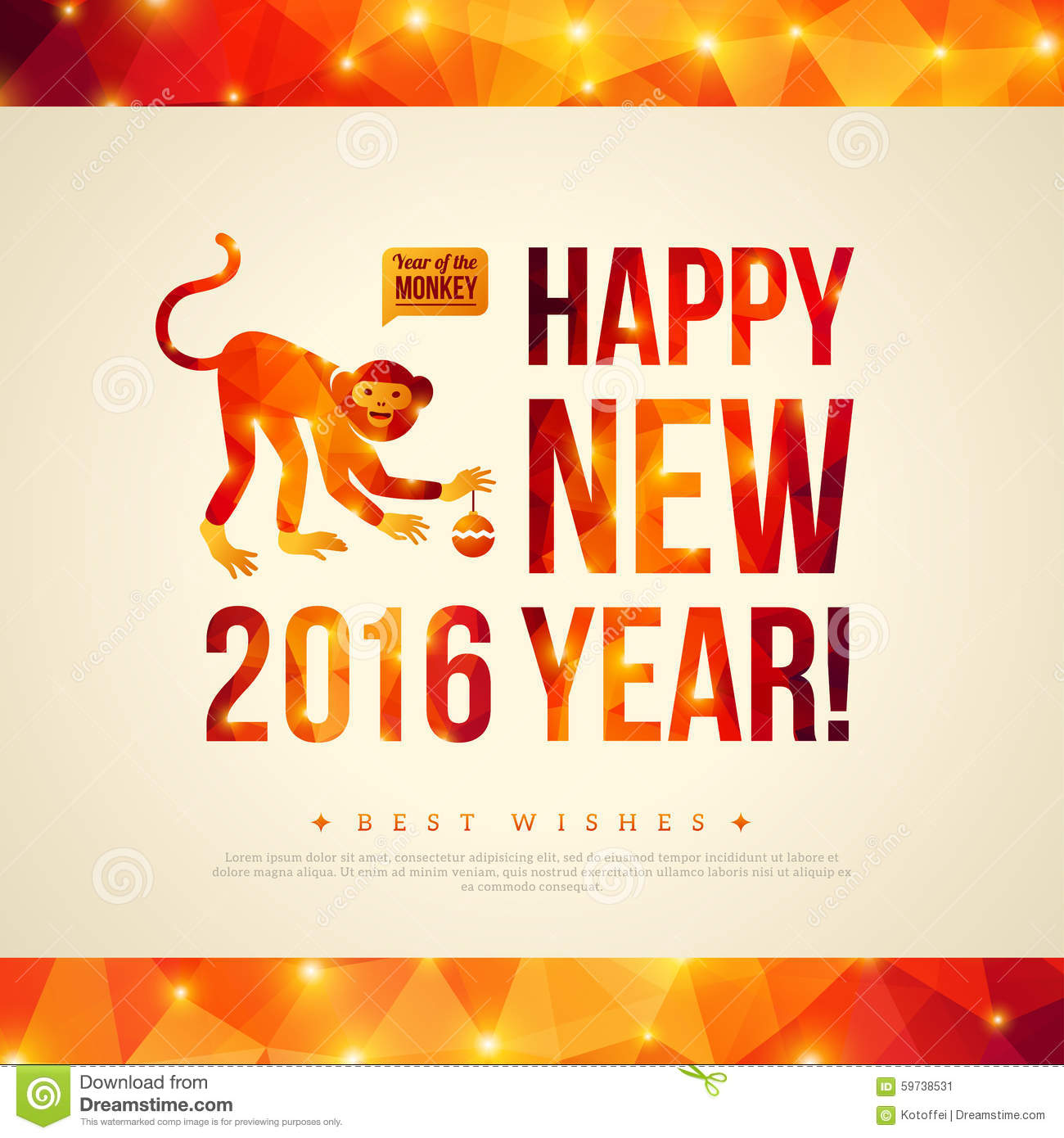 happy chinese new year 2016 greeting card year of - When Is Chinese New Year 2016