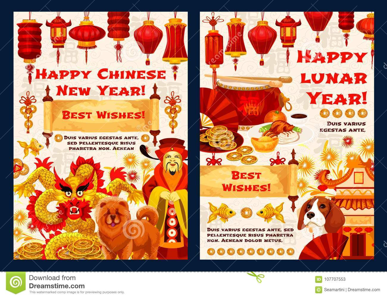 Happy chinese new year vector traditional cards stock vector download happy chinese new year vector traditional cards stock vector illustration of celebration design m4hsunfo