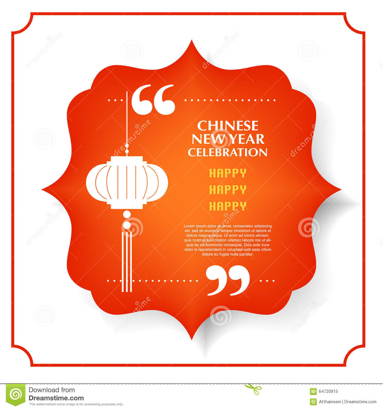 Happy Chinese New Year And Lantern Festival In Quote And Red Vintage Bubble Stock Vector Illustration Of Celebration Greeting 64720915