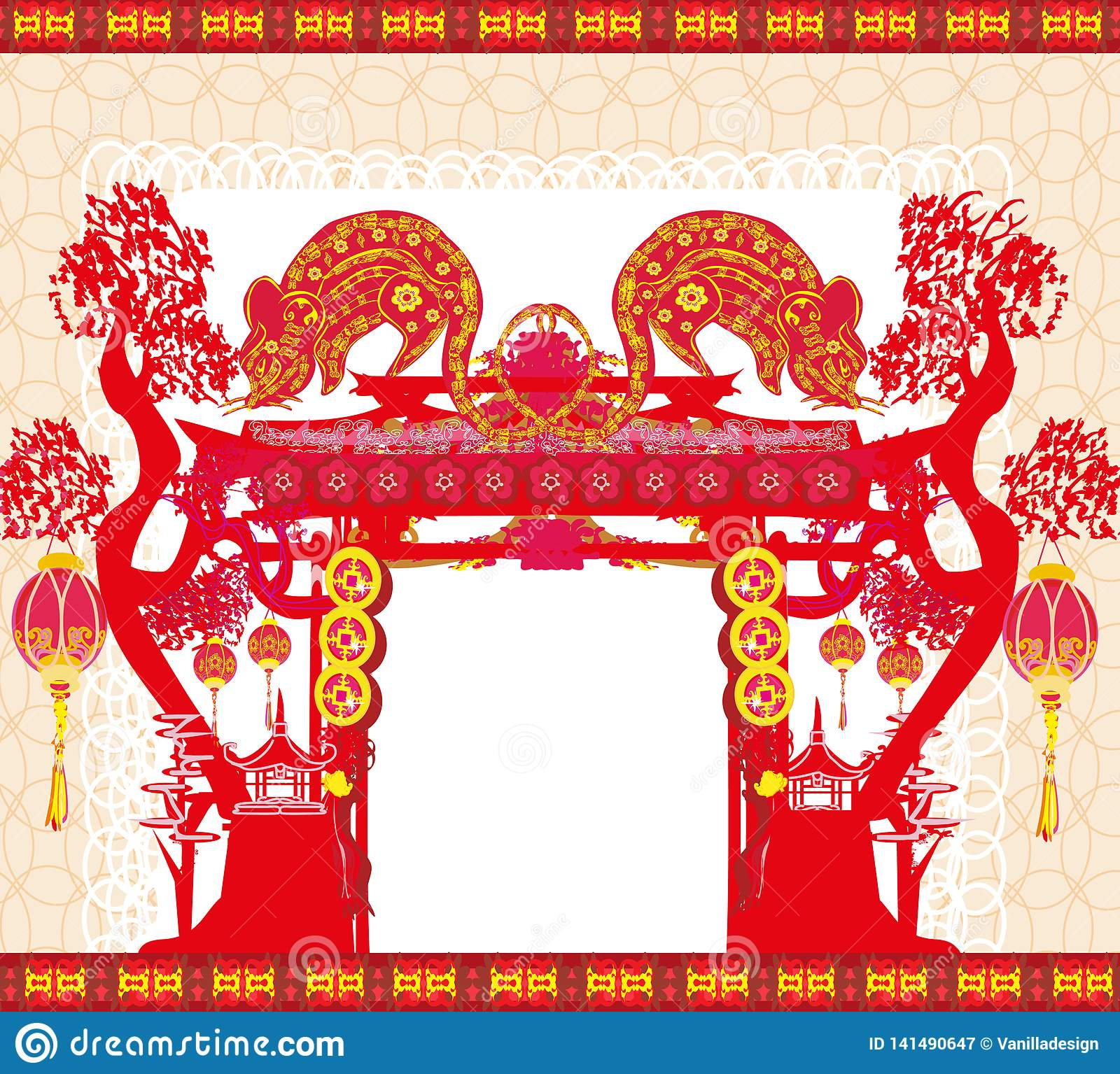 Happy Chinese New Year 2020 - Year Of The Rat Stock Vector ...