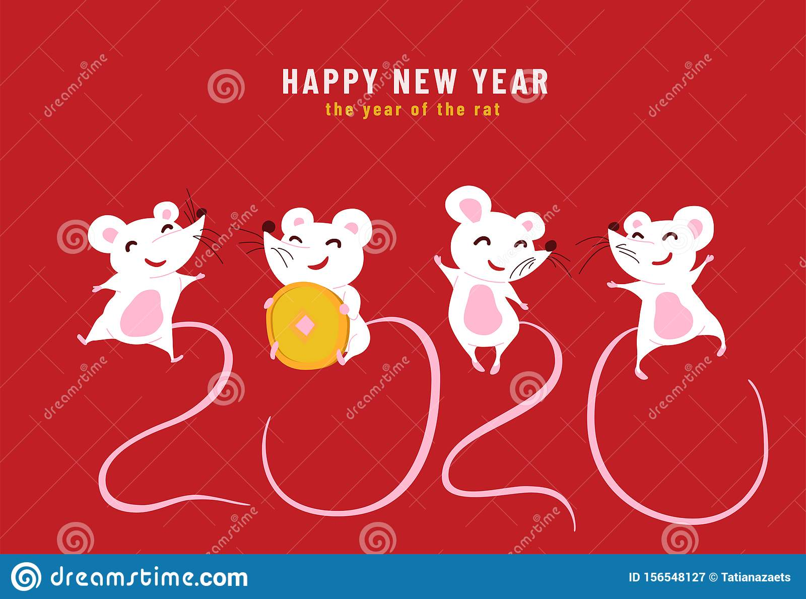 2020 Happy Chinese New Year The Year Of The Rat Design