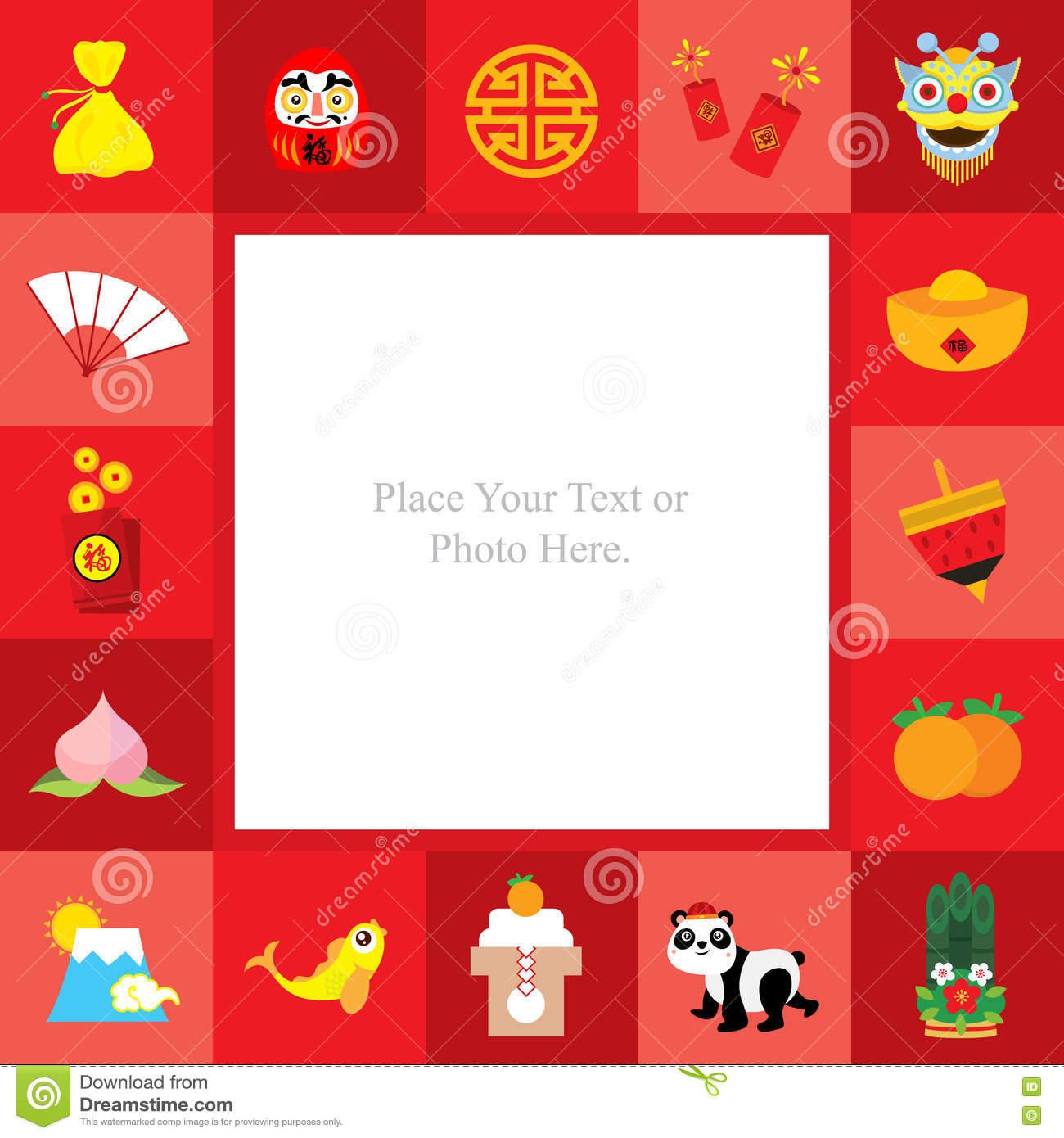 happy chinese new year template