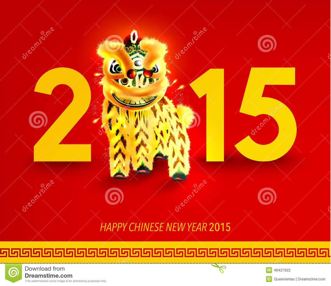 Happy 2015 Chinese New Year Of The Goat Greeting Card ...  Happy Chinese New Year 2015
