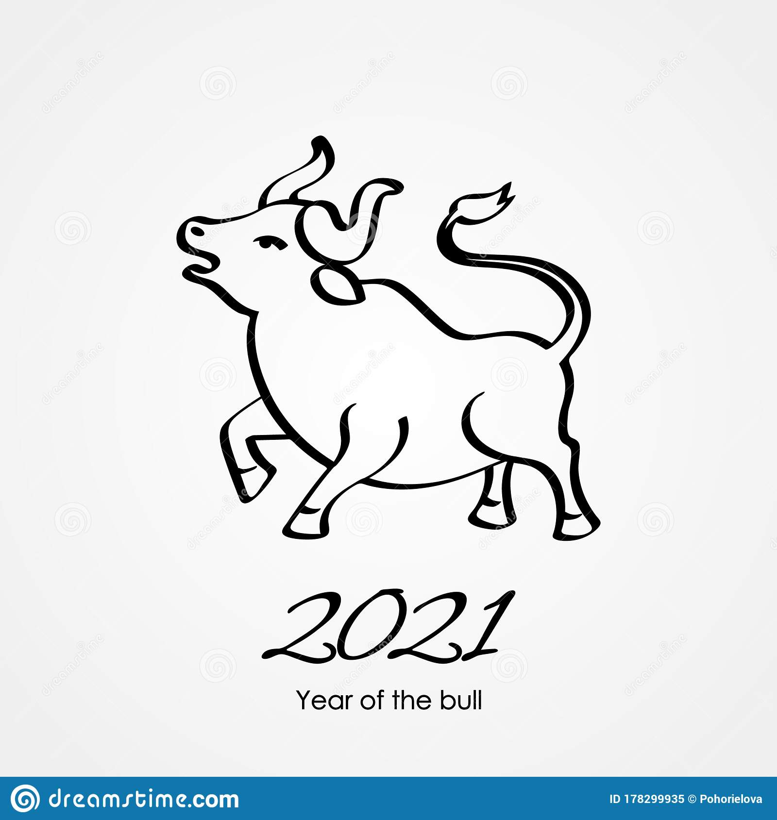 Happy Chinese New Year. The White Metal Ox Is A Symbol Of ...