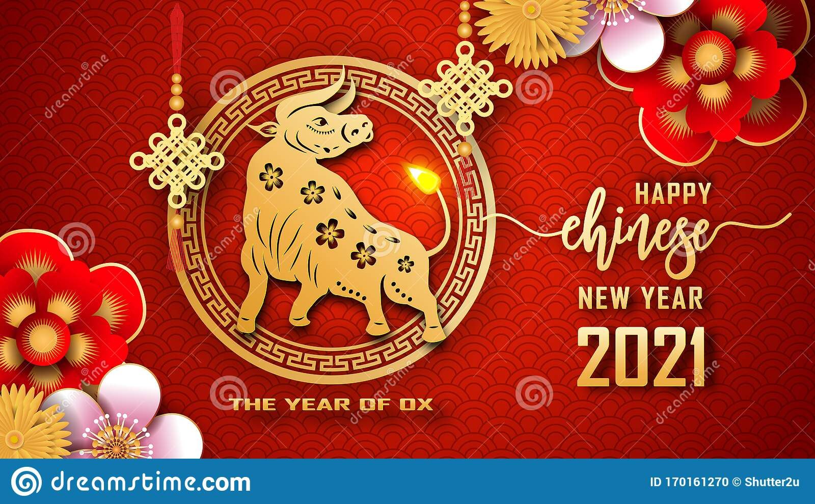 Happy Chinese New Year 2021. The Year Of The Ox. Chinese ...