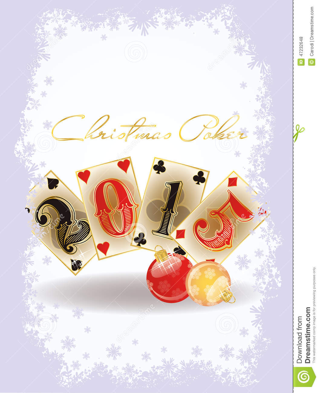 Happy Christmas casino card, vector