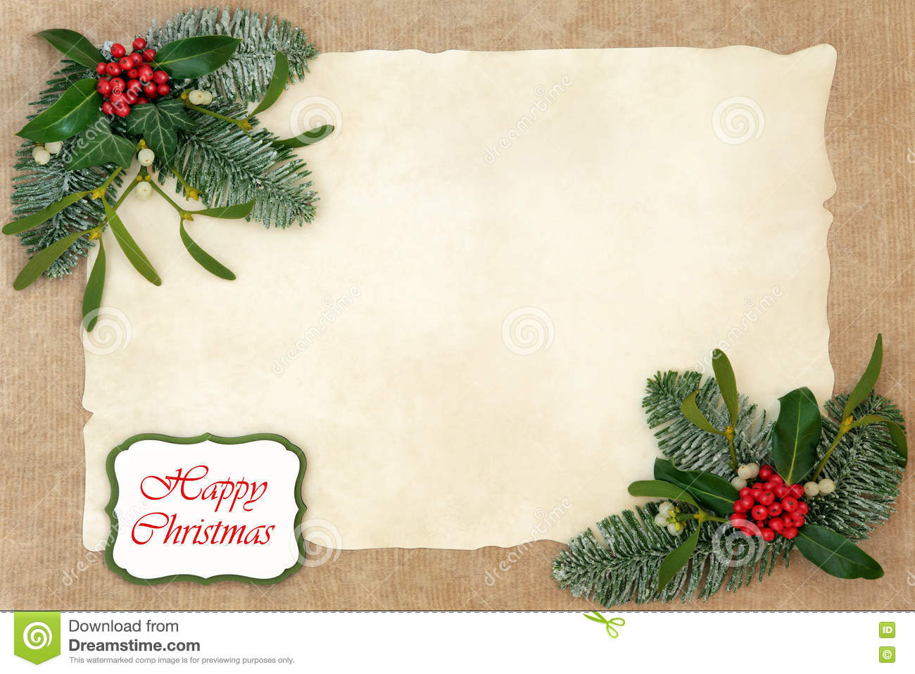 Christmas floral border stock photos freeimages com - Royalty Free Stock Photo Download Happy Christmas Floral Border